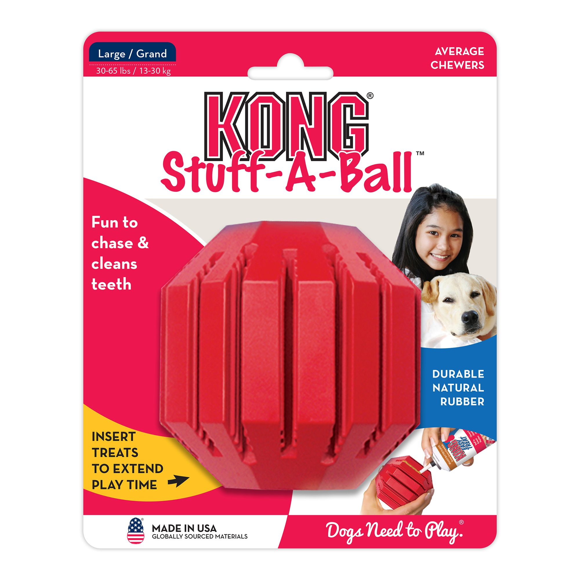 Kong Stuff-A-Ball, Treat Dispensing Dog Toy size: Large, Red 5088874