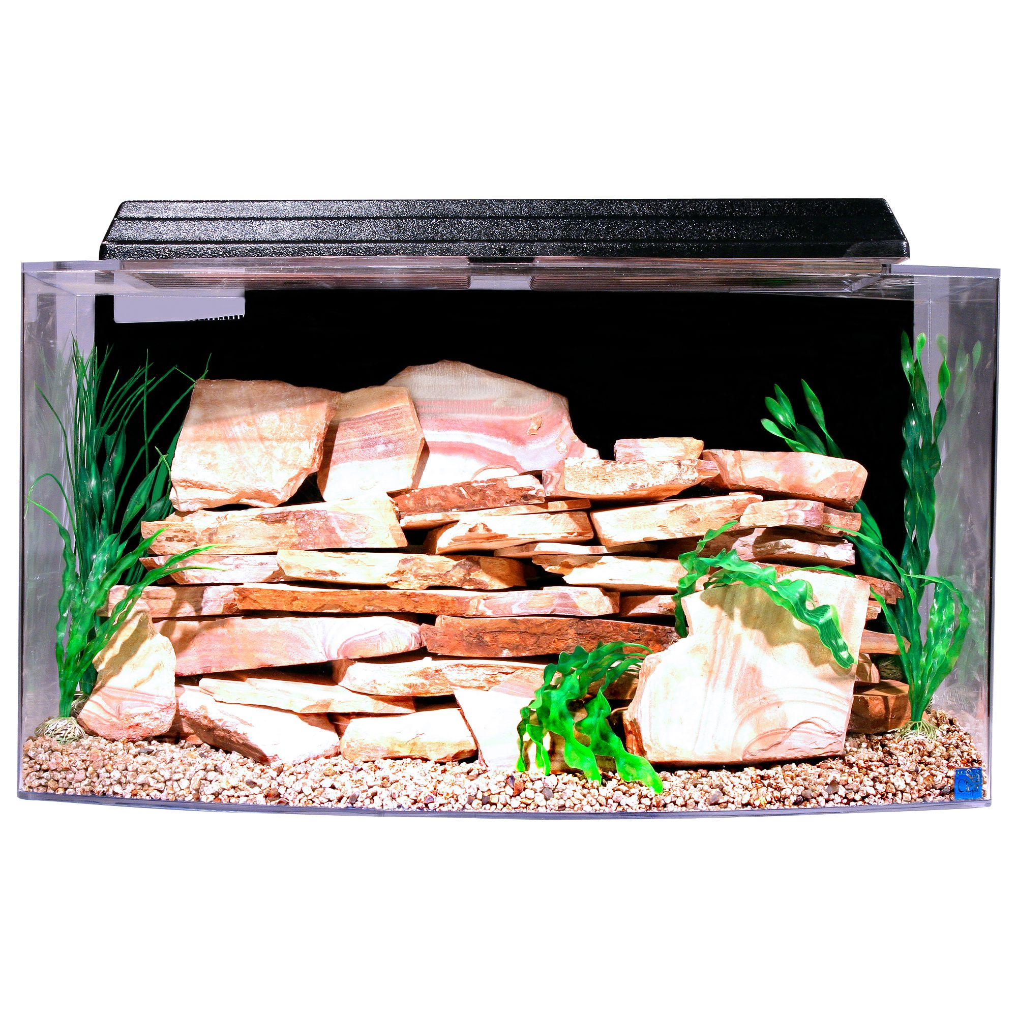 Seaclear System Ii Aquarium Size 46 Gal Black North American Pet Products