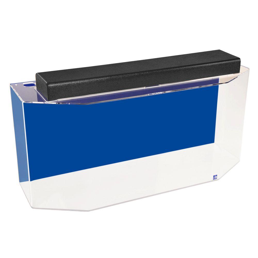 Seaclear 26 Gallon Flat Back Hexagon Aquarium Size 26 Gal Cobalt Blue