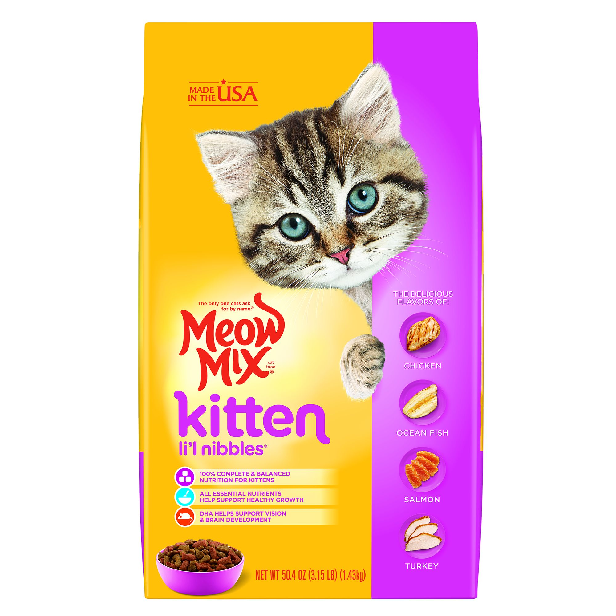 Meow Mix® Li'l Nibbles Kitten Food size: 3.15 Lb