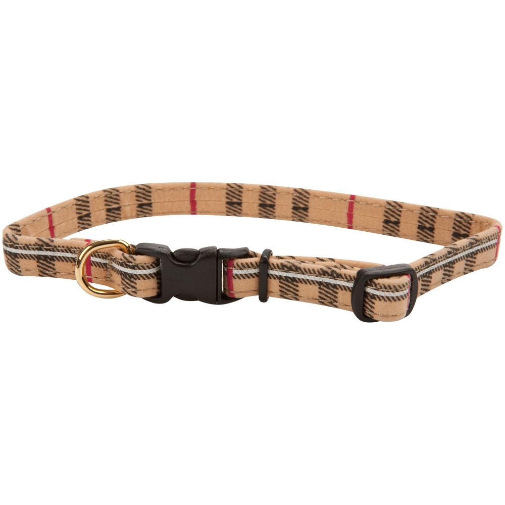 "Top Paw® Plaid Dog Collar size: 8""L x 0.375""W, Multi-Color 5093693"