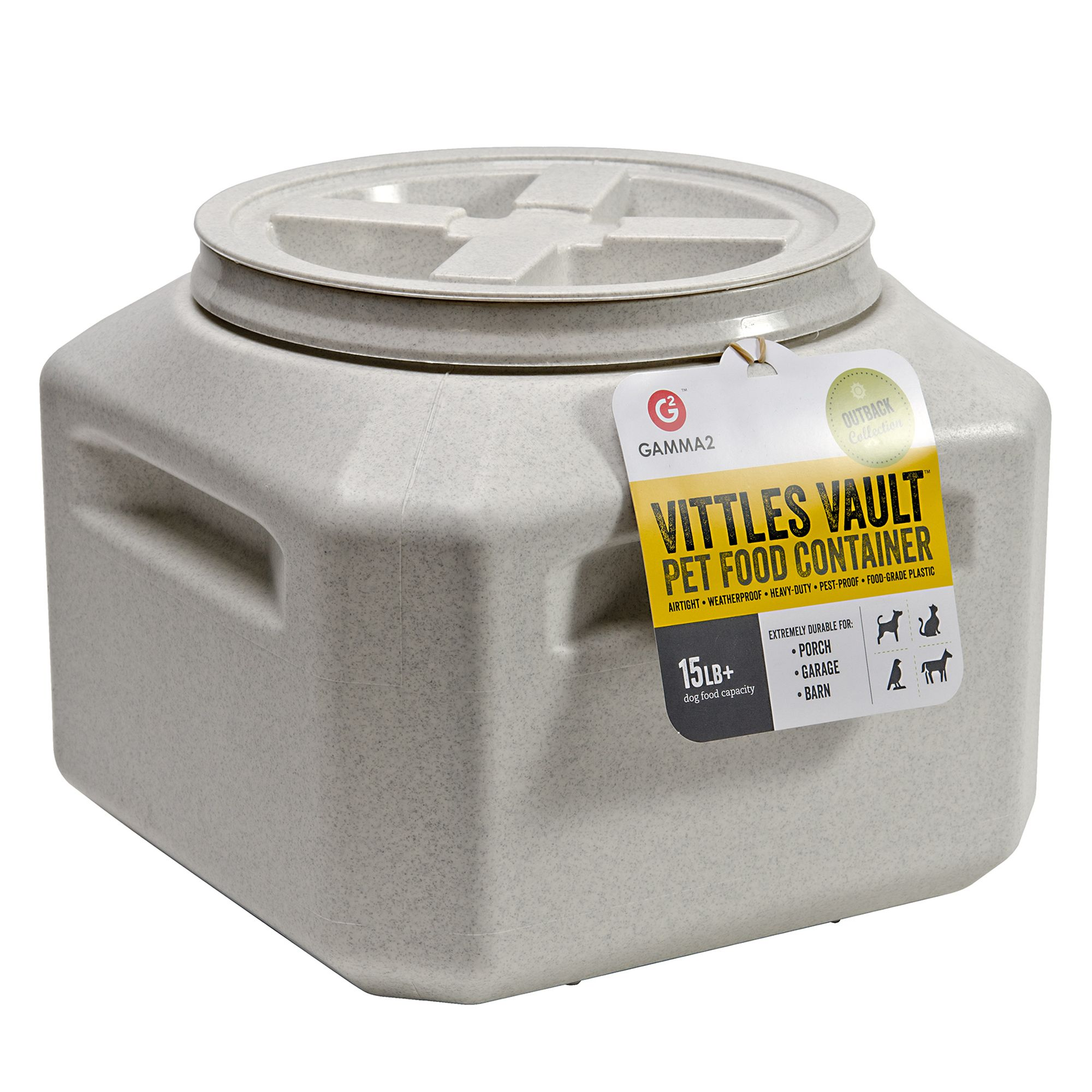 Vittle Vault Pet Food Container Size 15 Lb White