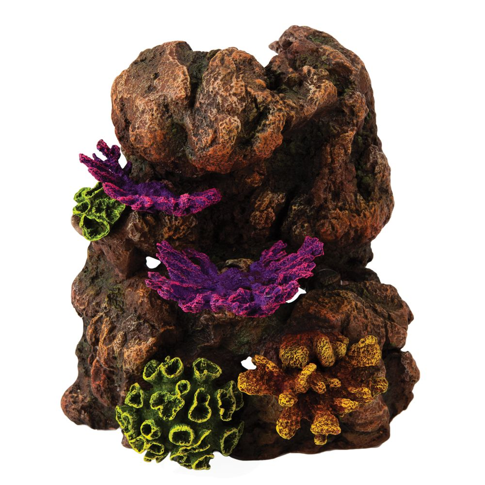 Top Finreg Fungus Rock Aquarium Ornament Multi Color