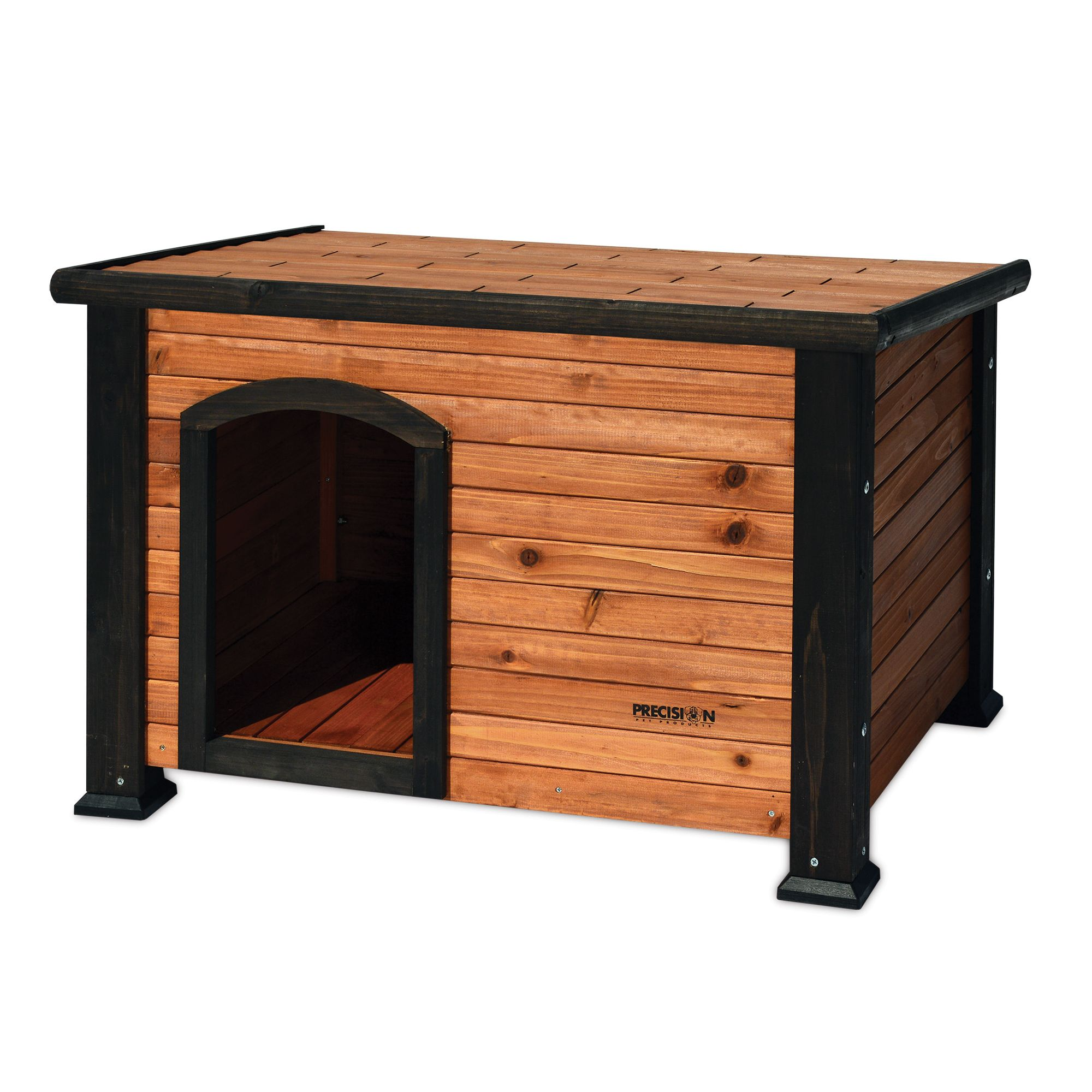 "Precision Pet Outback Log Cabin Dog House size: 45.5""L x 26.5""W x 27.5""H, Brown 5095721"