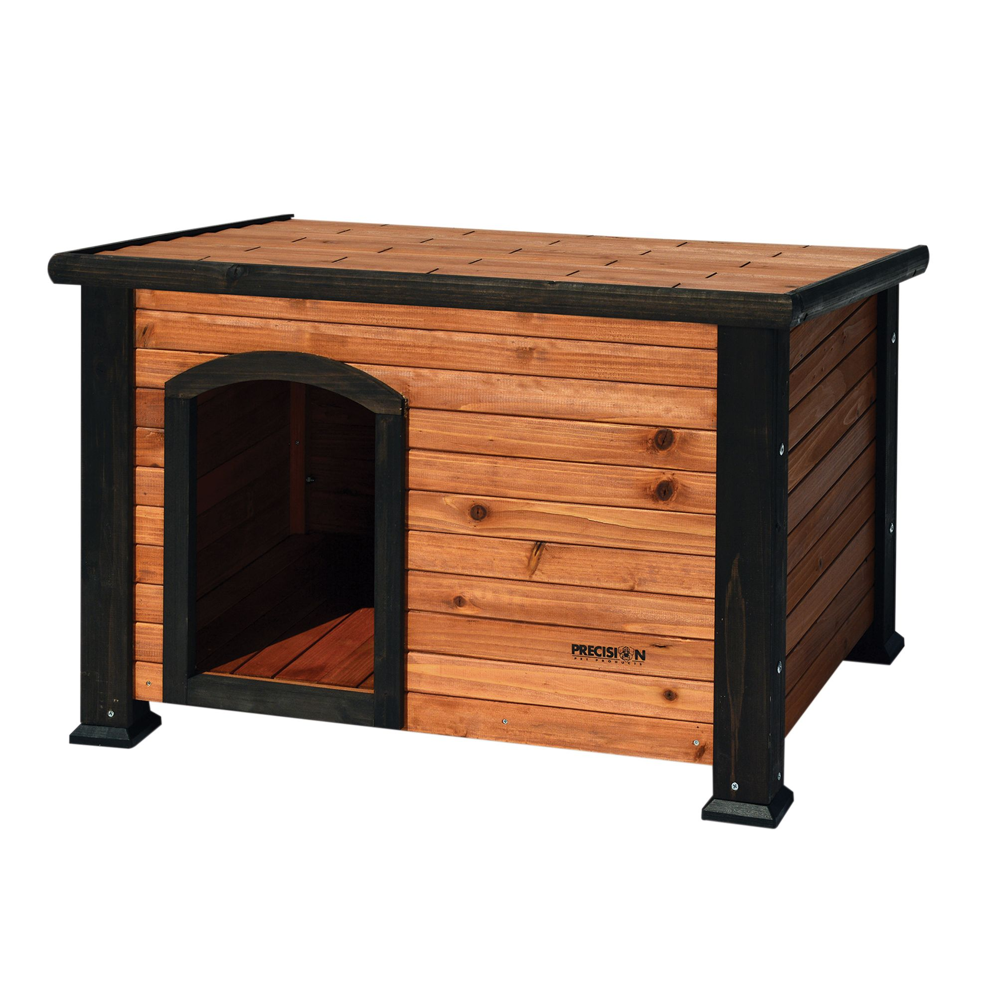 "Precision Pet Outback Log Cabin Dog House size: 33.5""L x 24.5""W x 22""H, Brown 5095722"