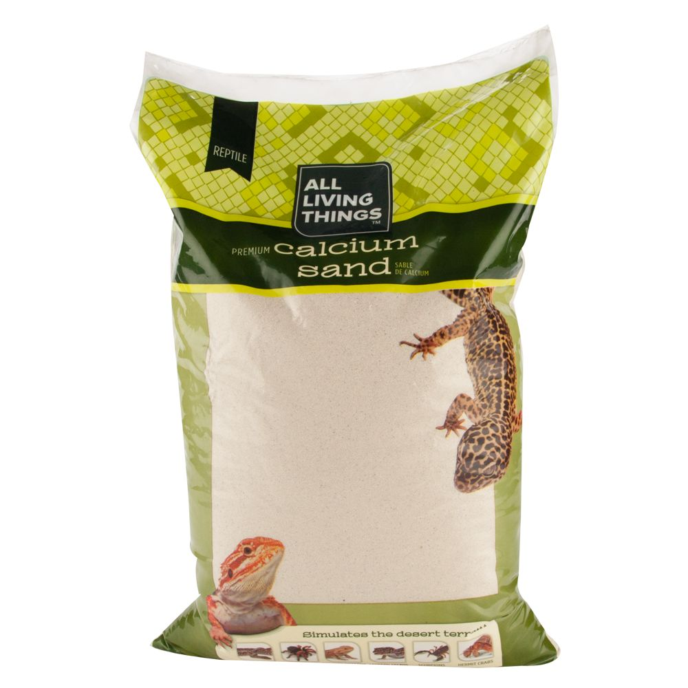 All Living Things All Natural Reptile Calcium Sand Size 10 Lb Ivory