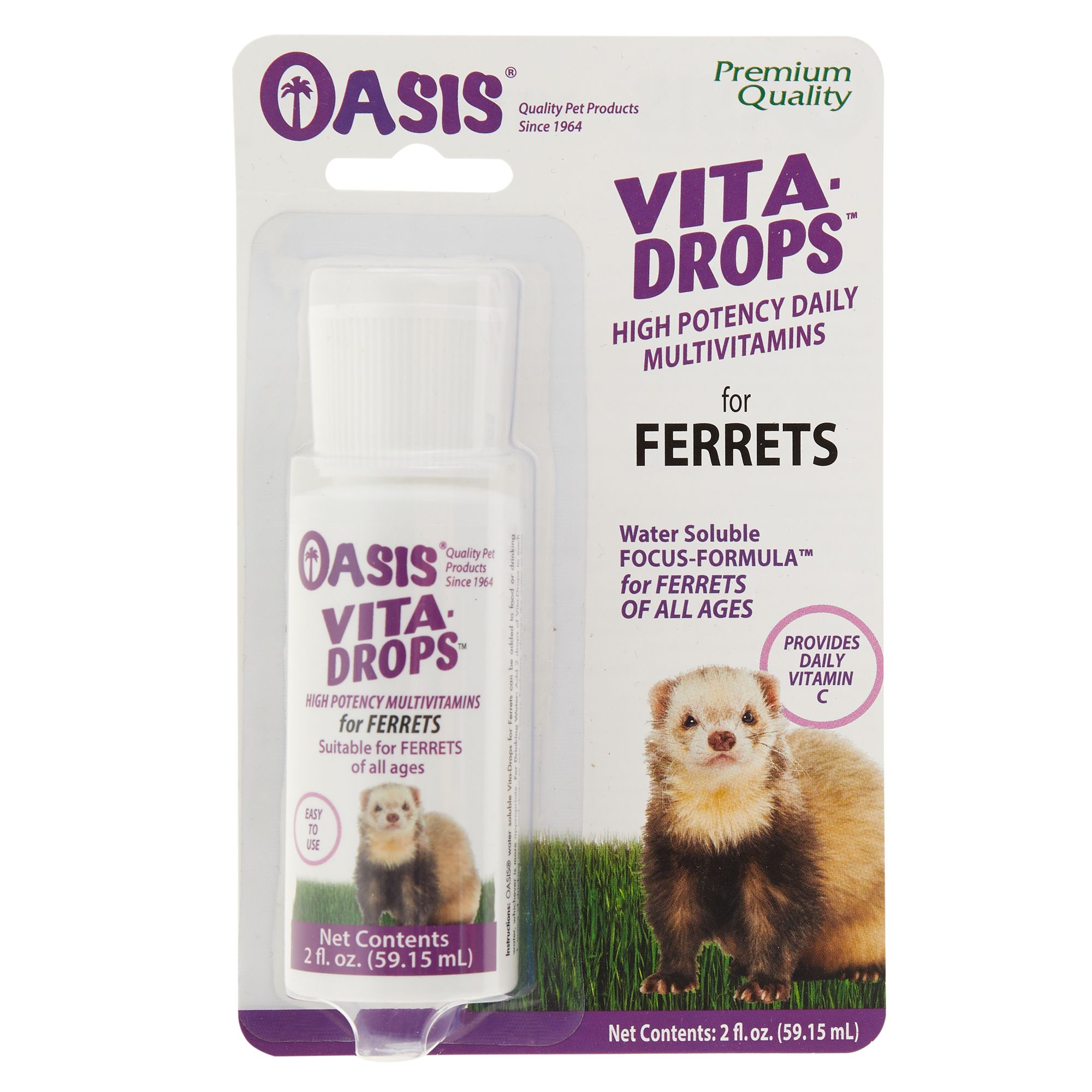Oasis Vita Drops High Potency Multivitamins Ferret Concentrate