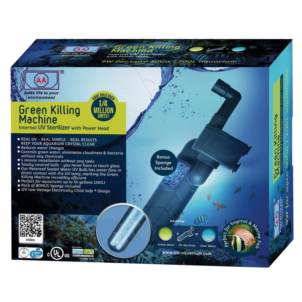 Aa Aquarium Green Killing Machine Internal Aquarium Uv Sterilizer Size 9w