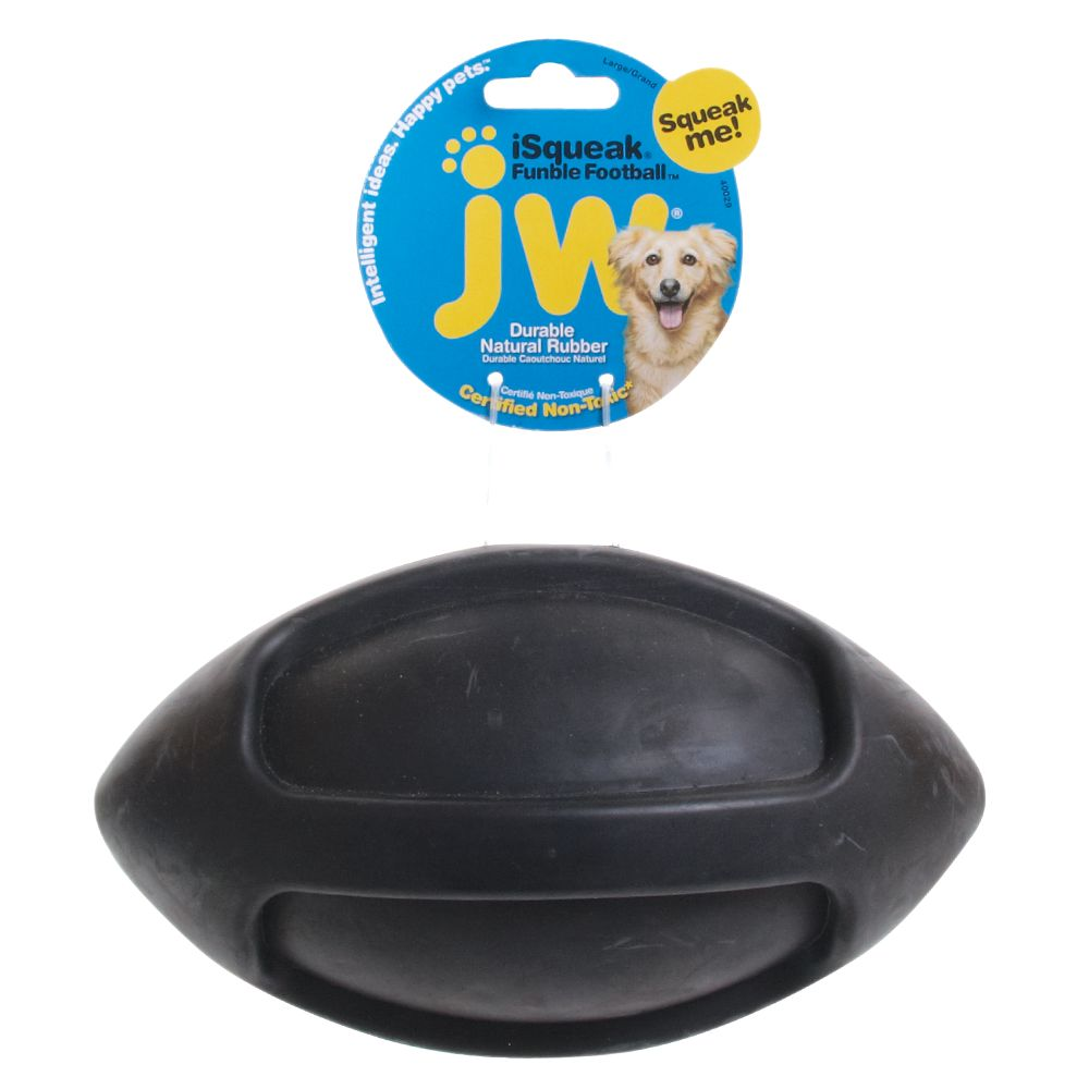 JW Pet® Funble Football Dog Toy size: Large, Multi-Color 5110312