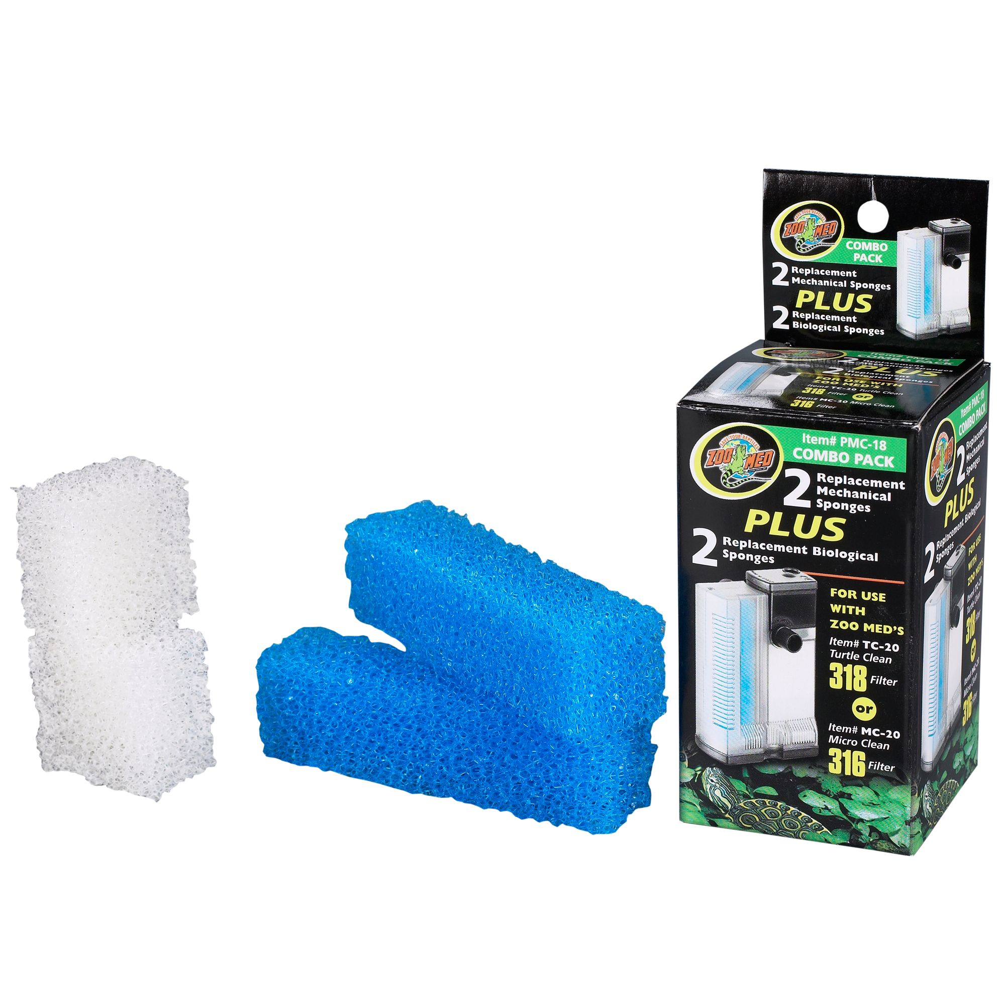 Zoo Med 316 And 318 Filter Combo Pack Replacement Sponges