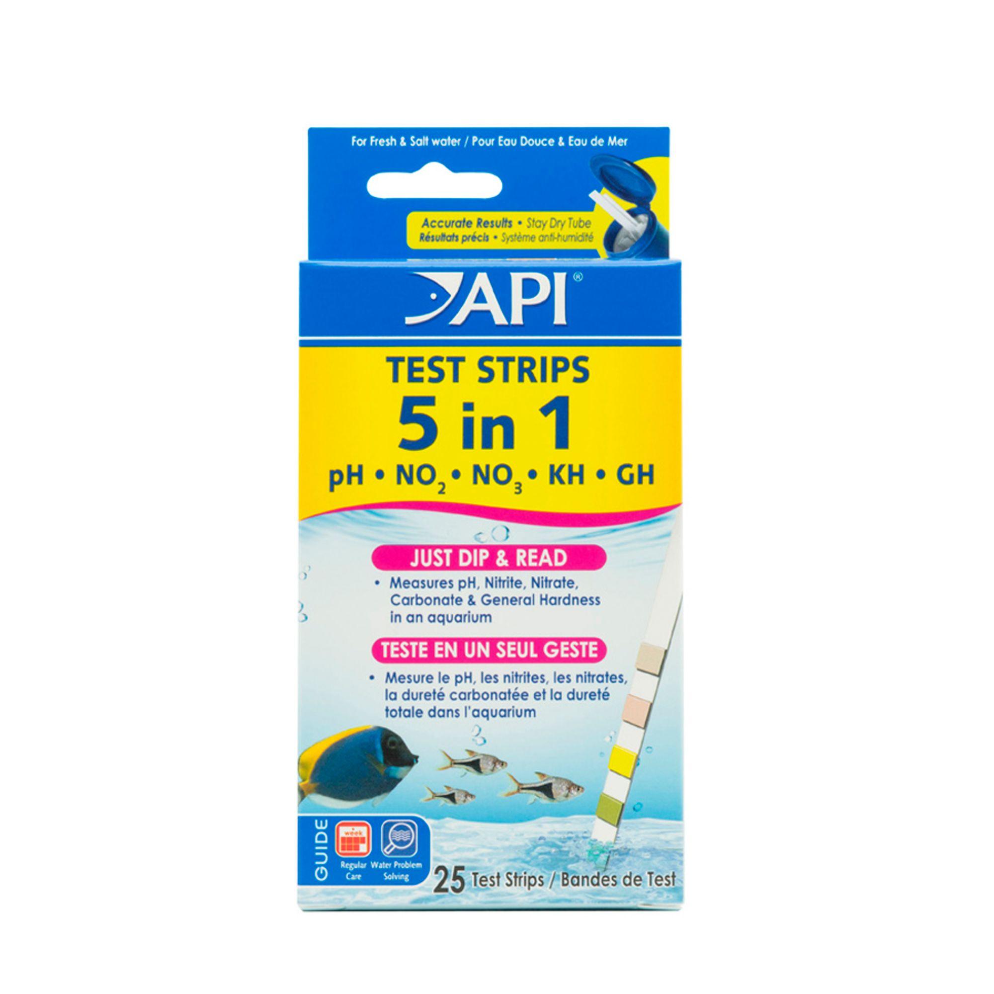 Api 5 In 1 Aquarium Test Strips Size 25 Count