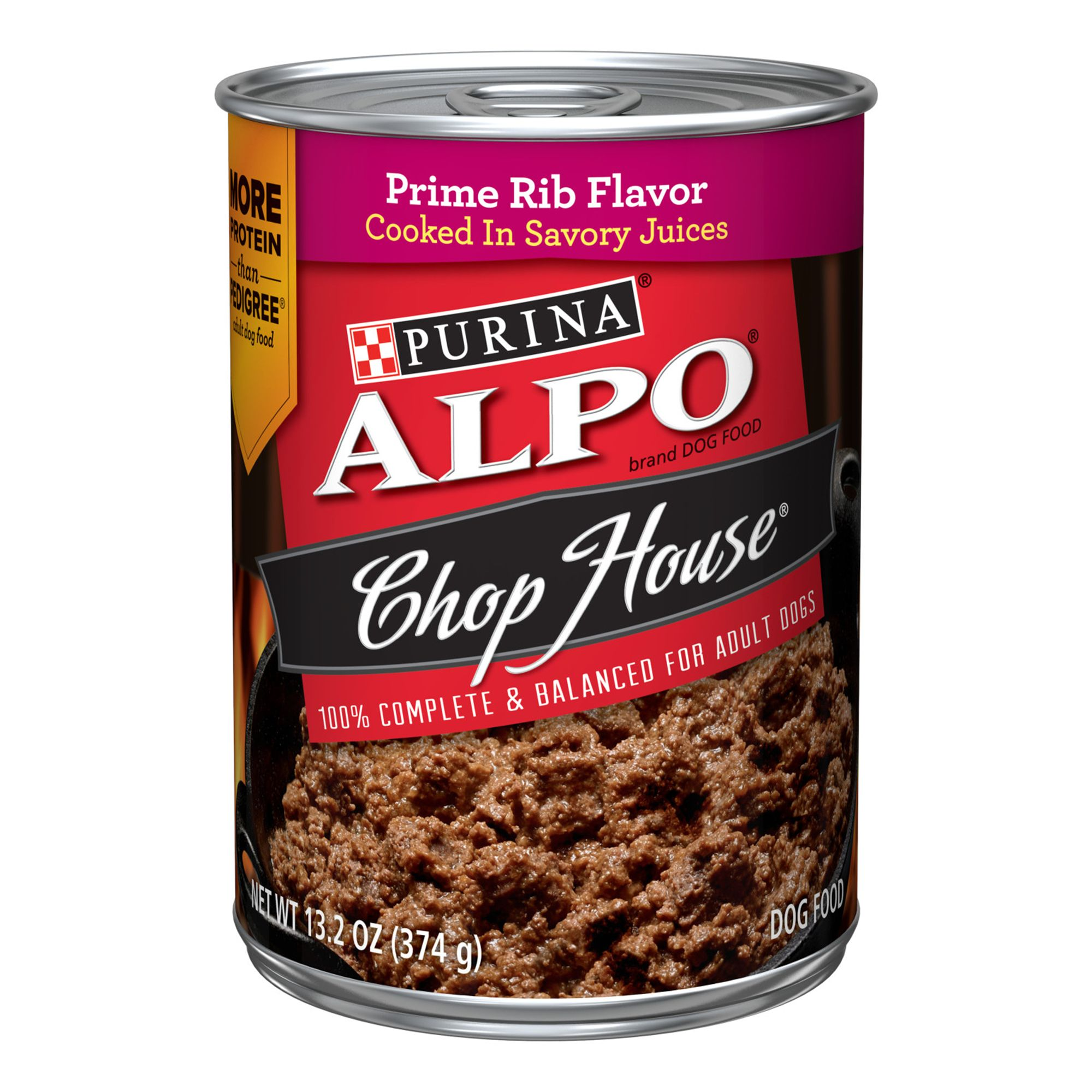 Purina Alpo Chop House Originals Adult Dog Food - Prime Rib Flavor size: 13.2 Oz 5114442