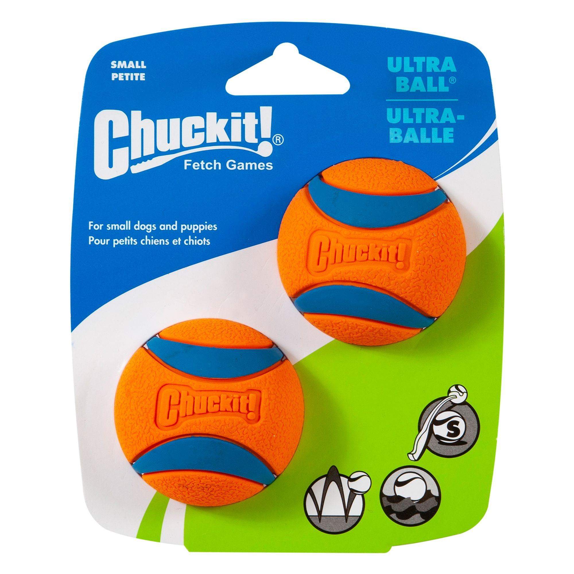 Chuckit! Ultra Ball Dog Toy size: Small, Orange & Blue