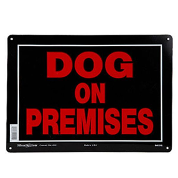 Hillman Sign Center Dog On Premises Sign Red Black