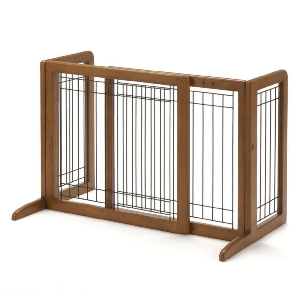 Richell Freestanding Pet Gate Size 26.4w X 21h Brown