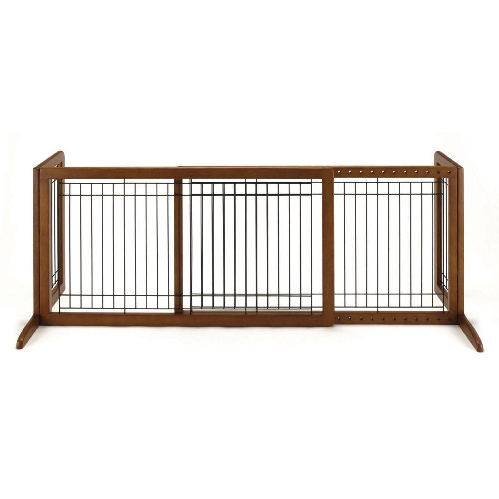 Richell Freestanding Pet Gate Size .8w X 21h Brown