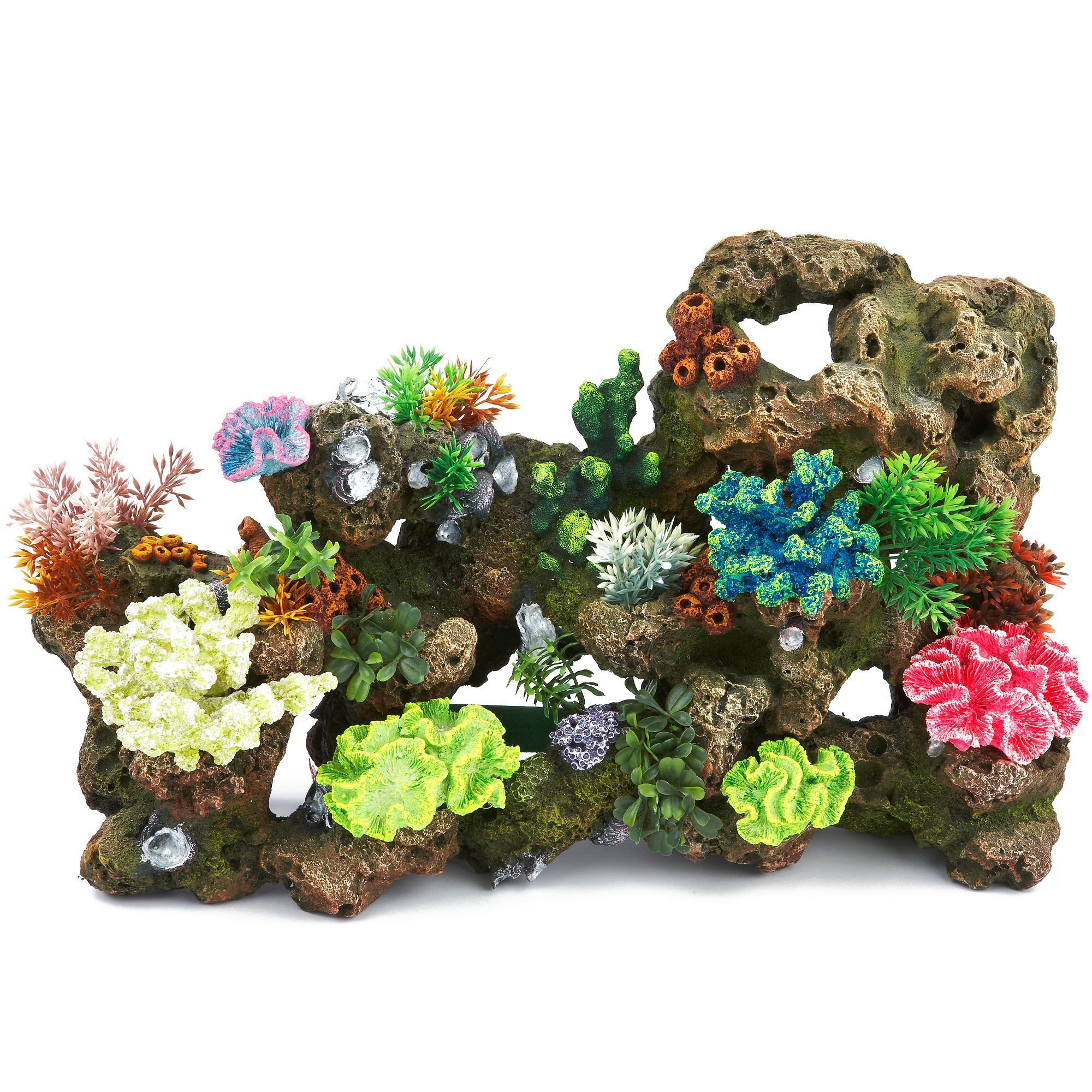 Top Fin Stone And Coral Bubbler Aquarium Ornament Size X Large Multi Color