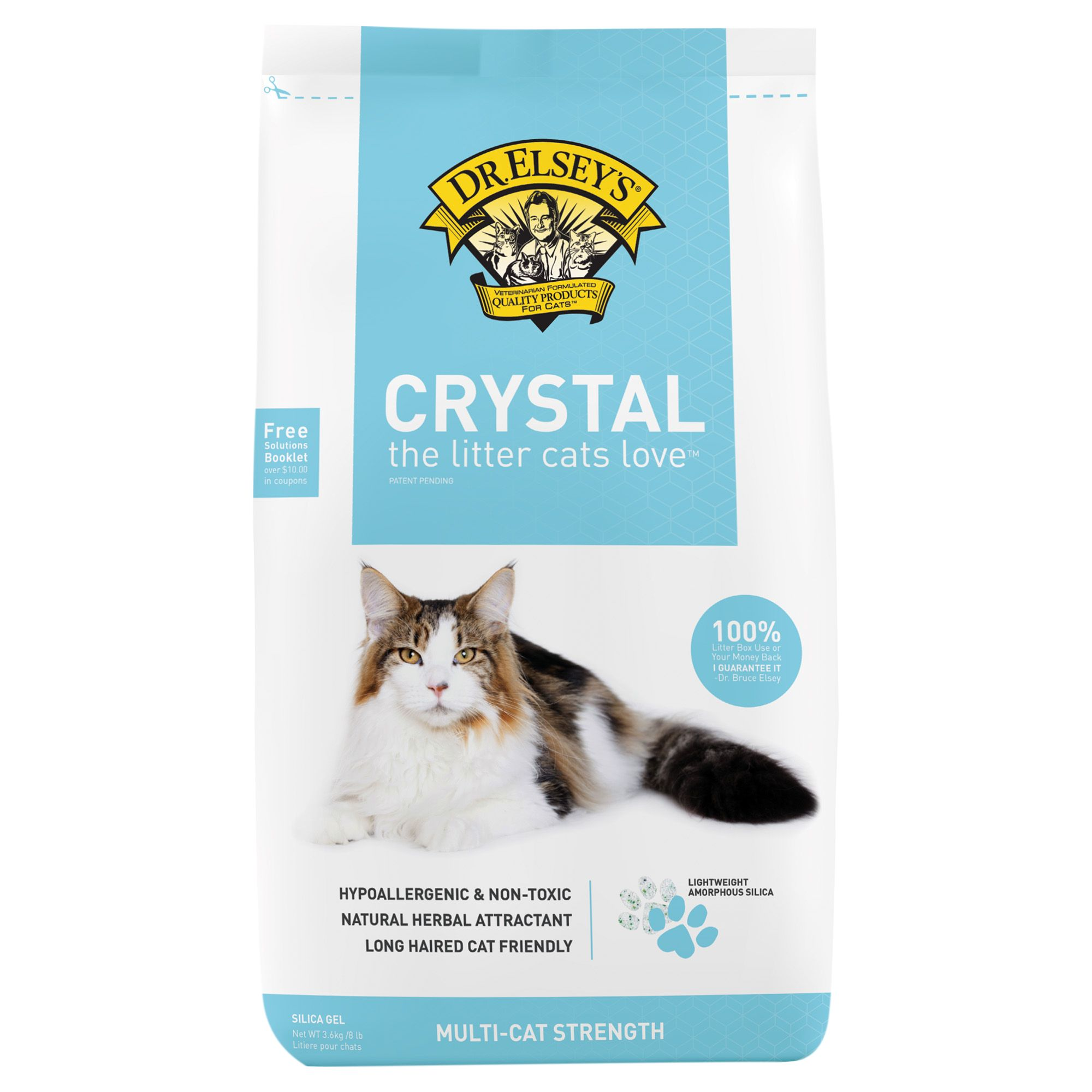Precious Cat Long Haired Cat Litter Size 8 Lb