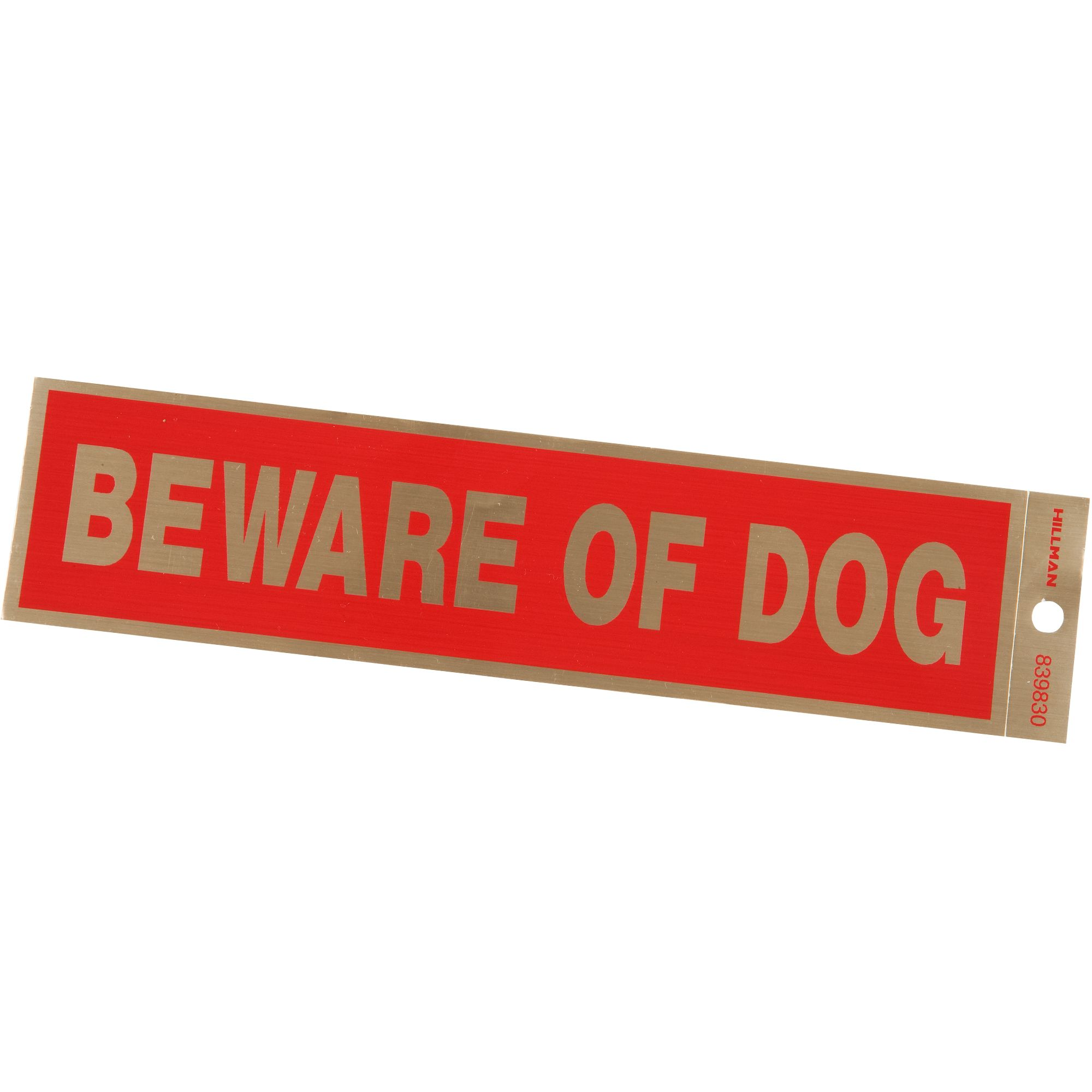Hillman Sign Center Plastic Beware Of Dog Sign Red