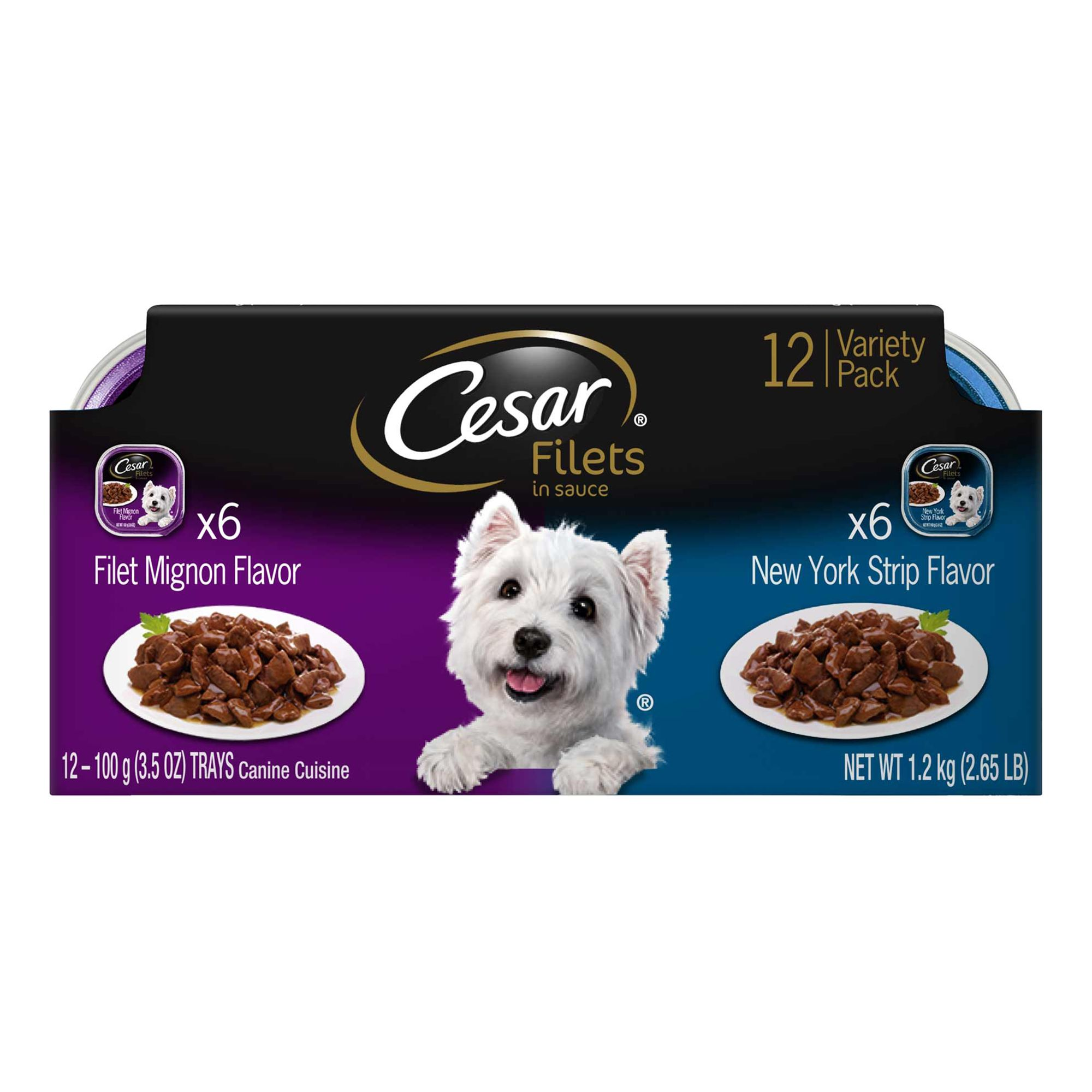 Cesar Canine Cuisine Gourmet Filets Dog Food 12 Pack Size 3.5 Oz