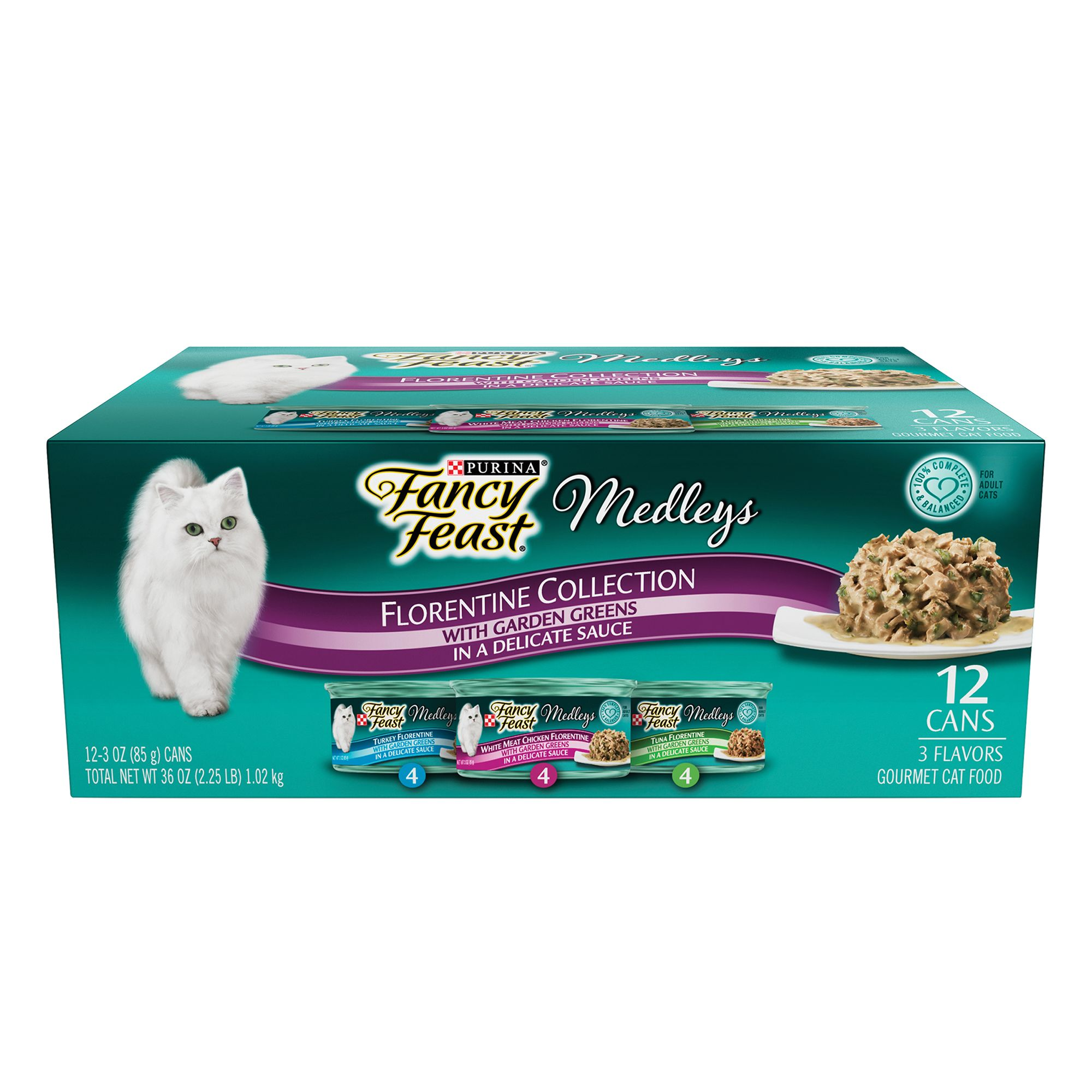 Fancy Feast Medleys Florentine Adult Cat Food Variety Pack 12ct Size 3 Oz