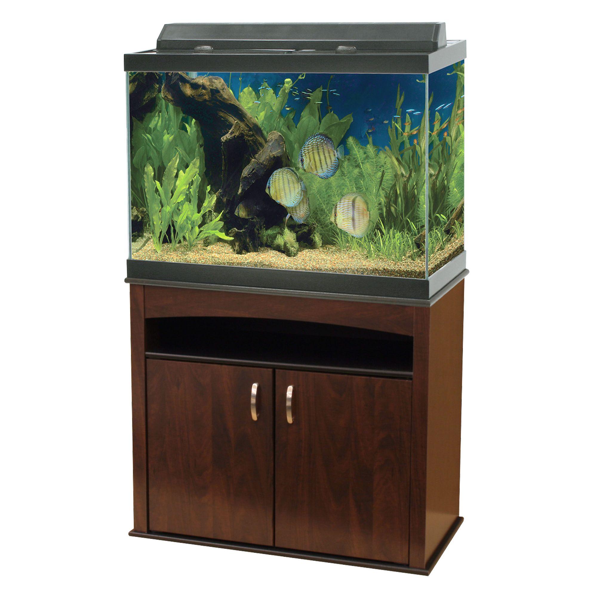 Aqueon® 65 Gallon Aquarium Ensemble size: 65 Gal, Brown 5126806