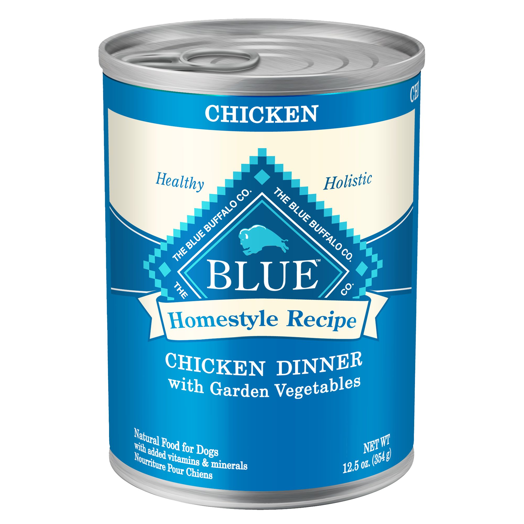 Blue Homestyle Recipe Adult Dog Food size: 12.5 Oz, Blue Buffalo, Chicken with Garden Vegetables & Brown Rice 5127107