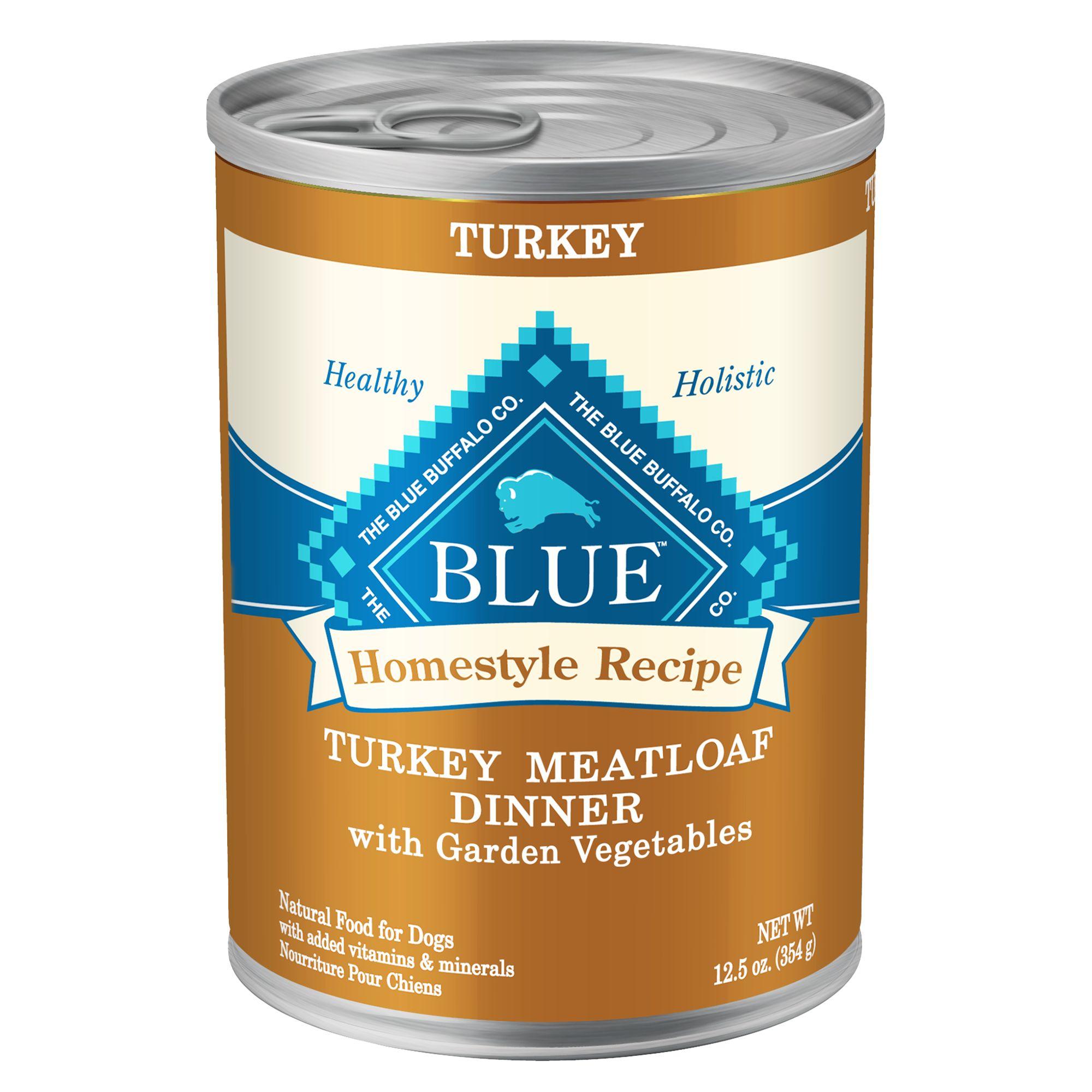 Blue Homestyle Recipe Adult Dog Food size: 12.5 Oz, Blue Buffalo, Turkey Meatloaf with Carrots & Sweet Potatoes