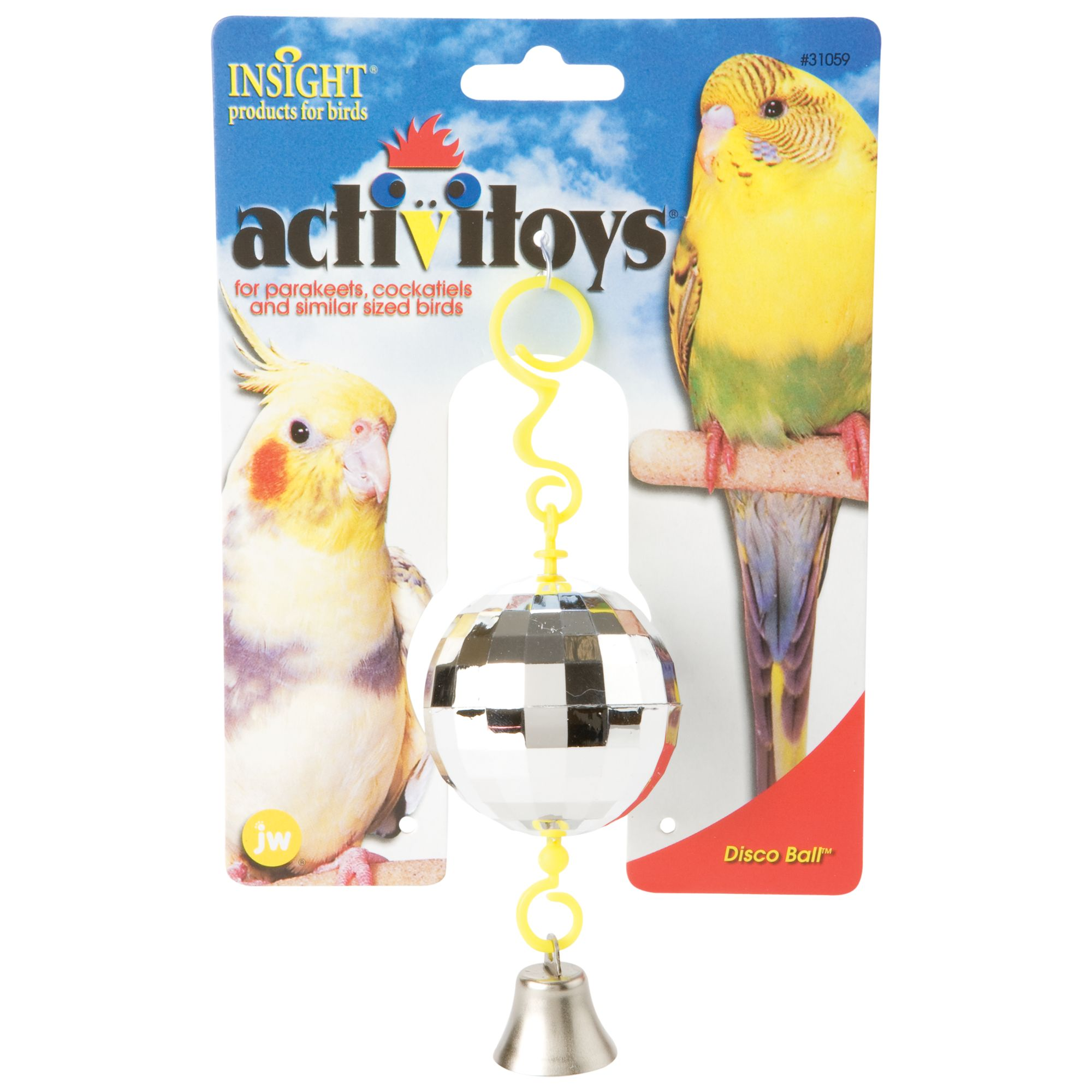 JW Pet Insight Activitoys Disco Ball Bird Toy 5127725