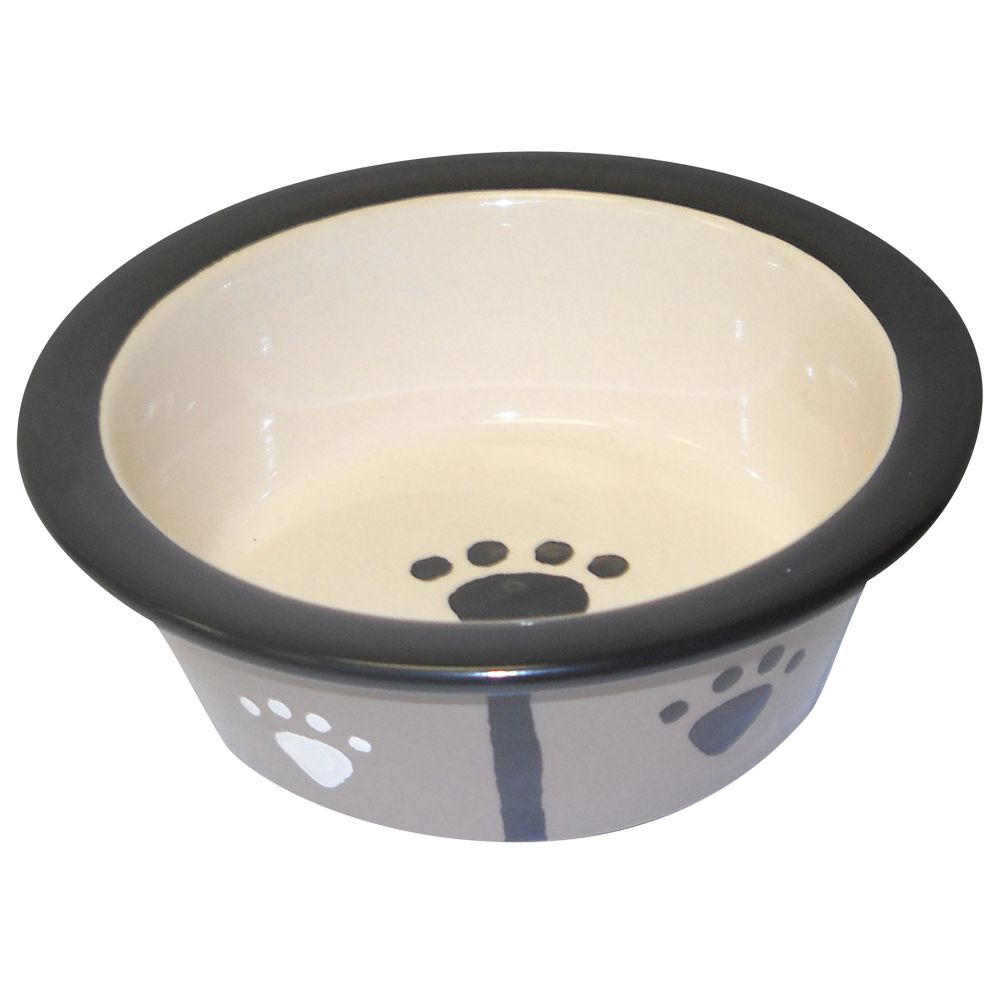 Top Paw Double Diner Dog Replacement Bowl size: 1 Pt, Black & Gray 5128730
