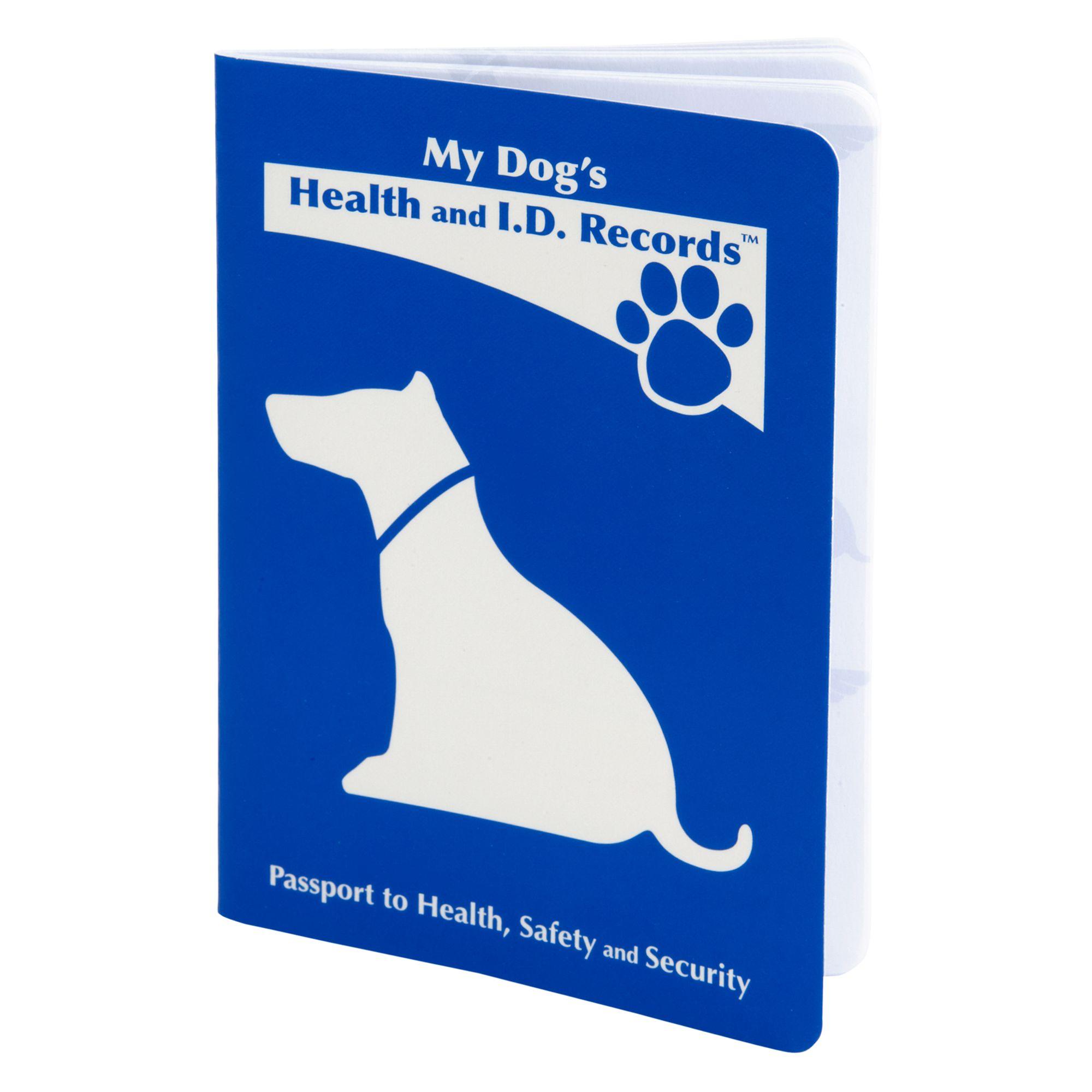 Mdi Health And I.d. Record Dog Passport Blue
