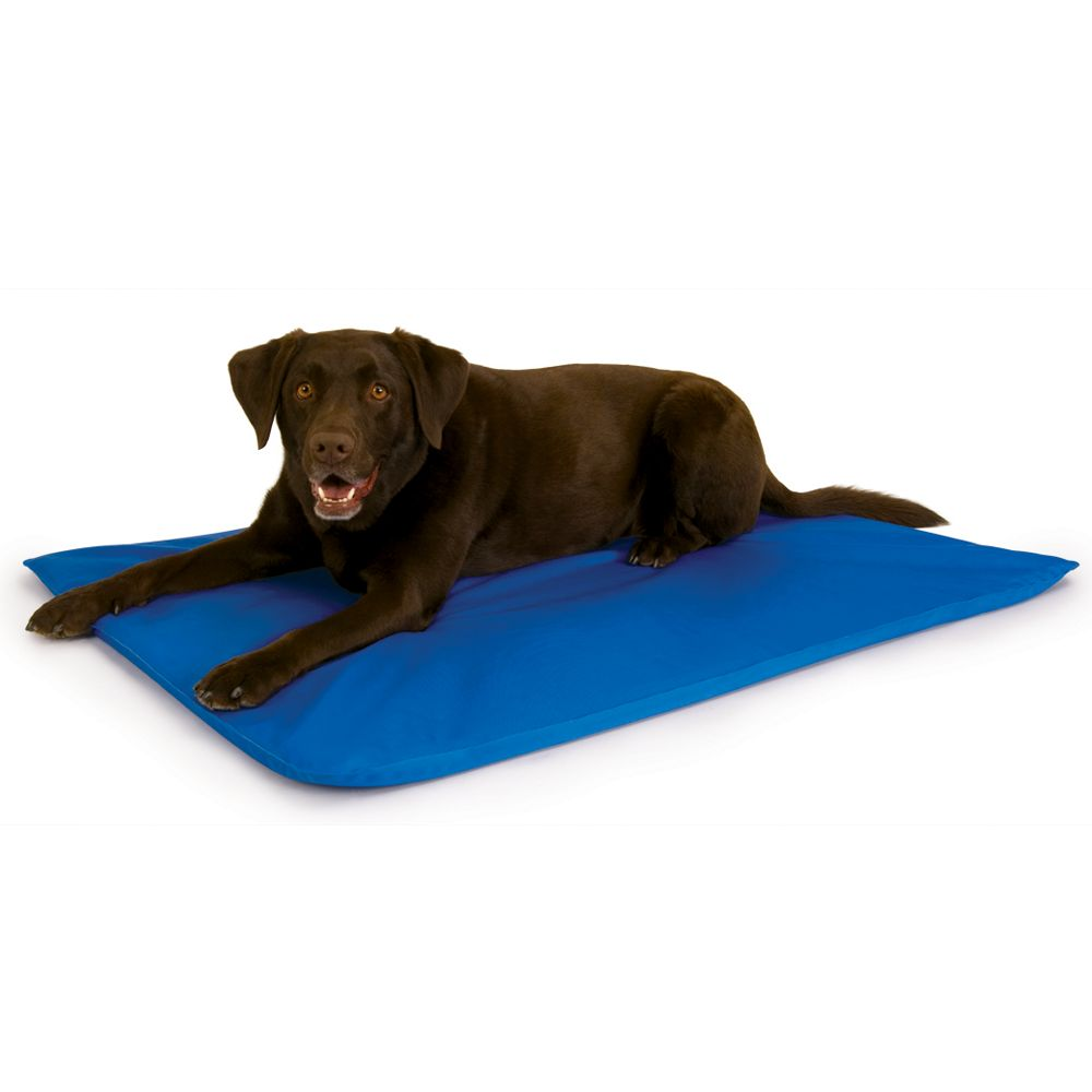 "KandH Cool Bed III Pet Bed size: 44""L x 32""W x 0.5""H, Gray, K & H"