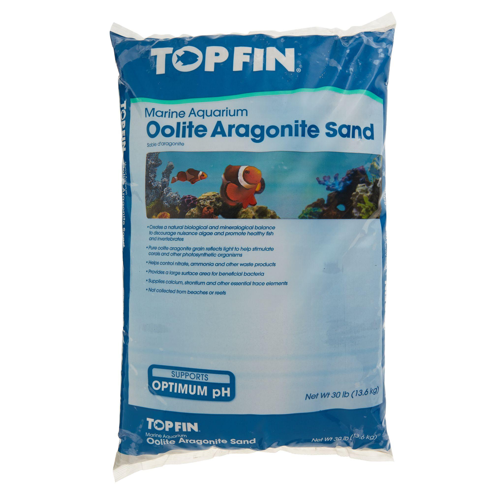 Caribsea Aragonite Aragamax Oolite Aquarium Substrate Size 30 Lb White