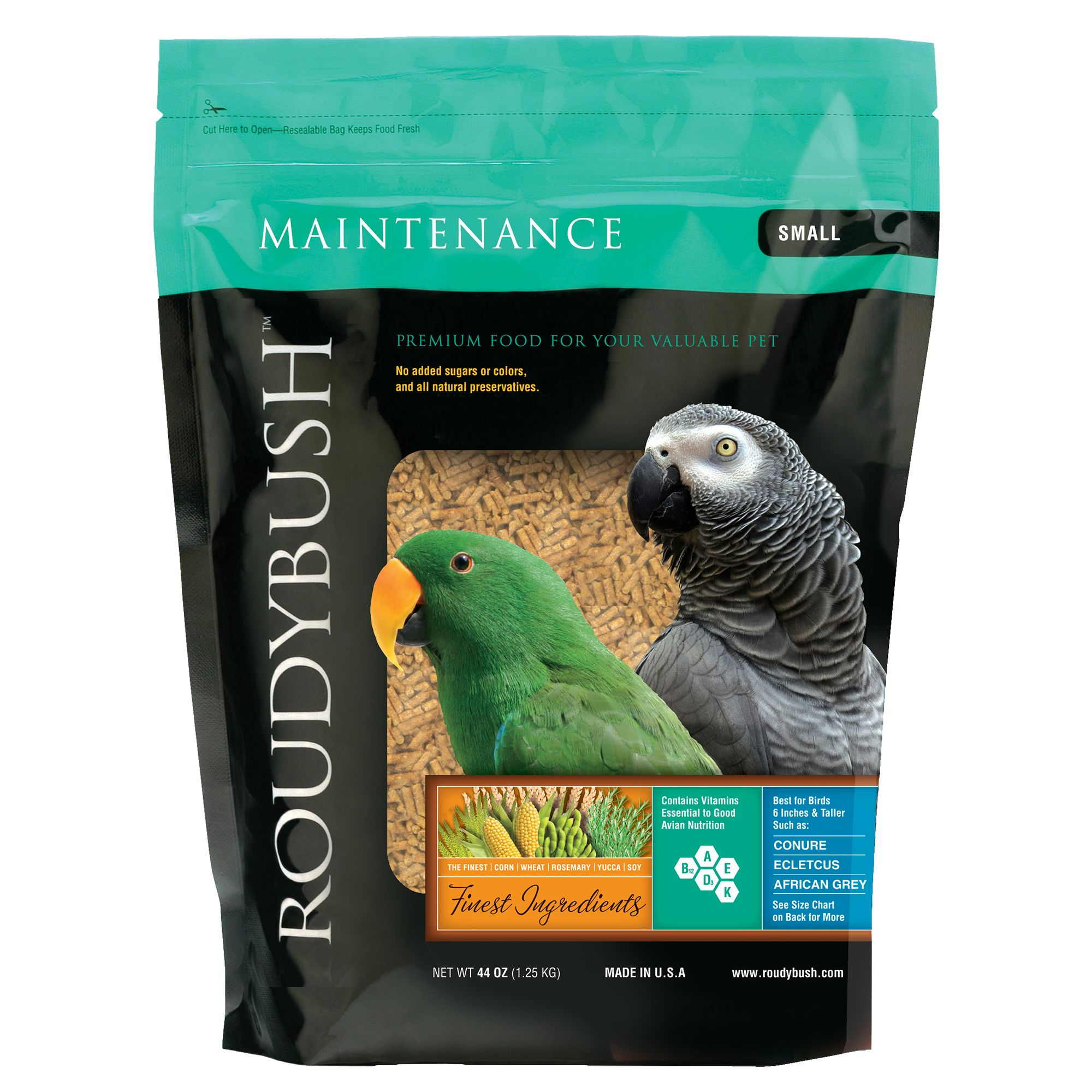 Roudybush Maintenance Small Pellets Bird Food Size 44 Oz