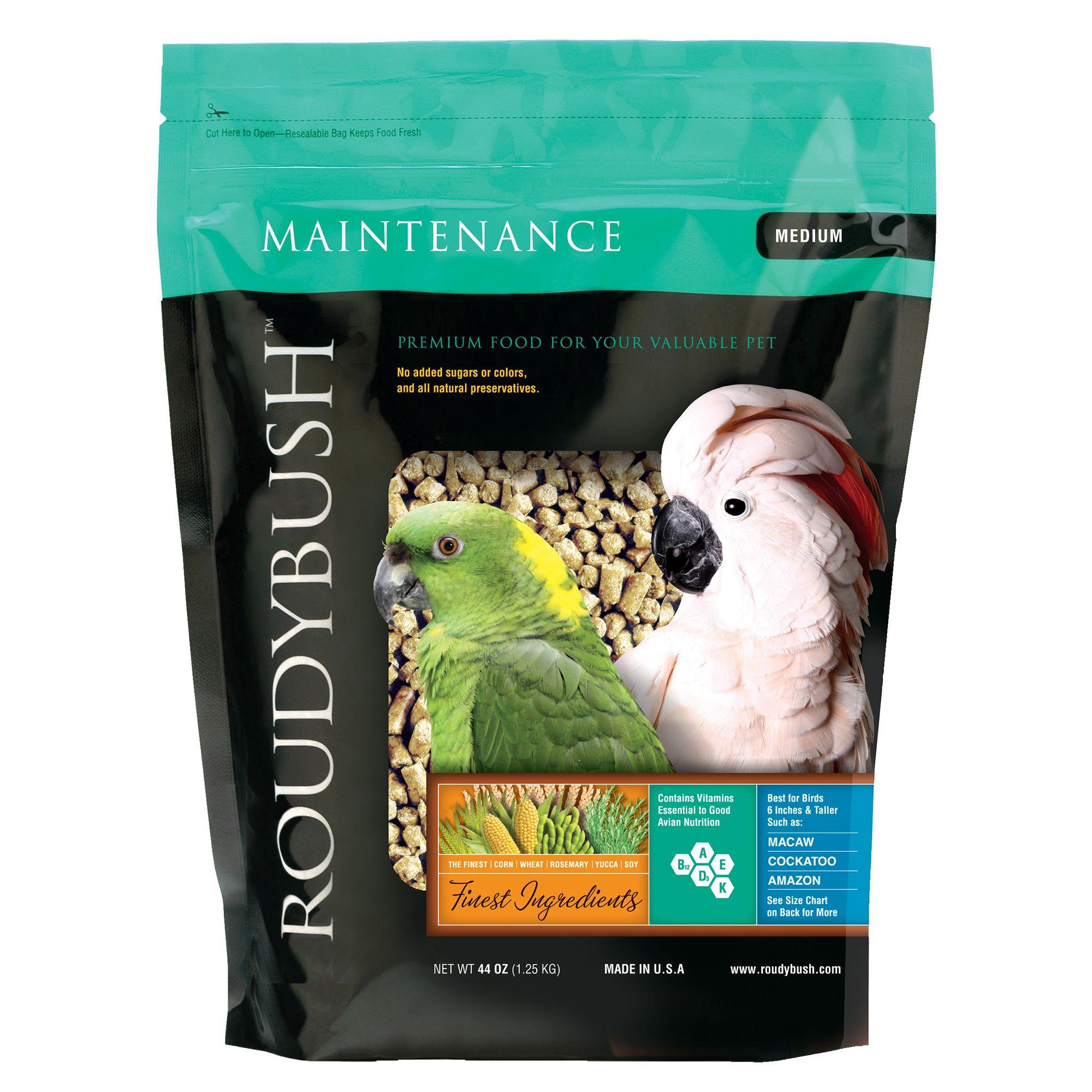 Roudybush Maintenance Medium Pellets Bird Food Size 44 Oz