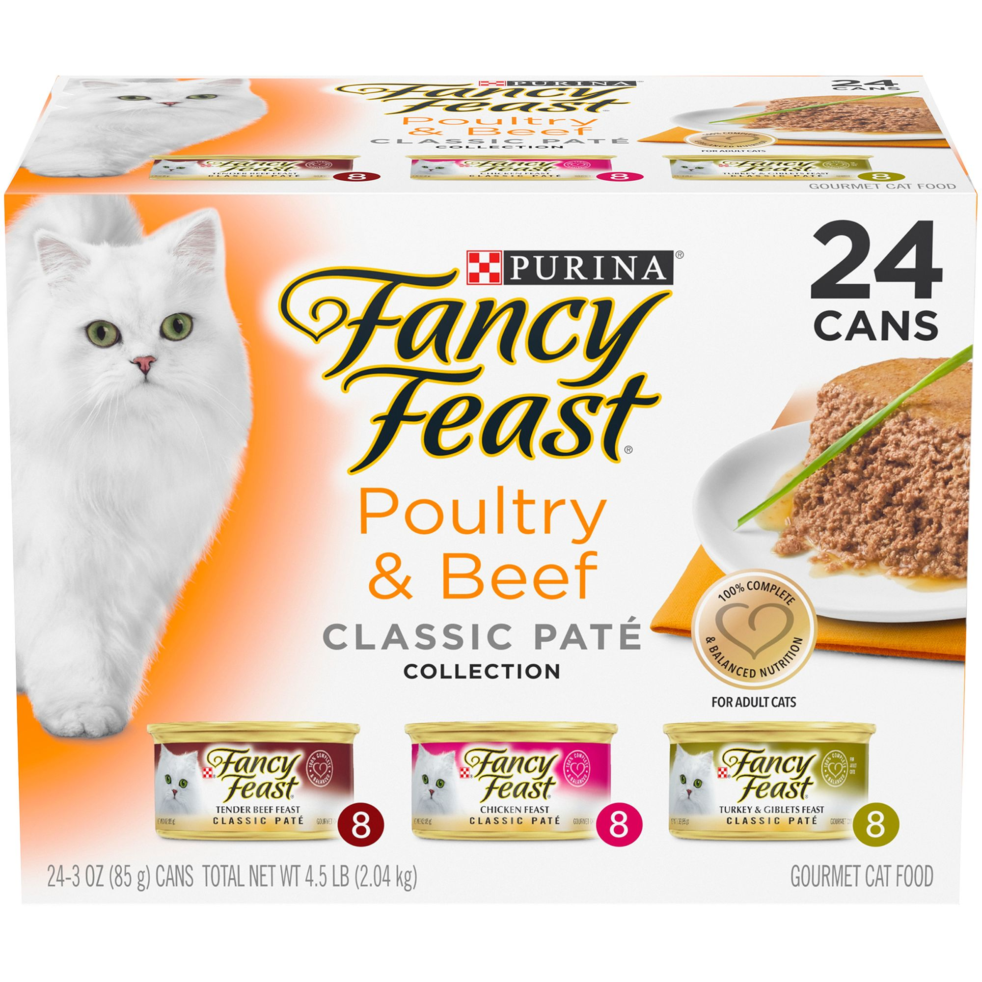 Fancy Feast Gourmet Classic Variety Pack Cat Food Size 3 Oz