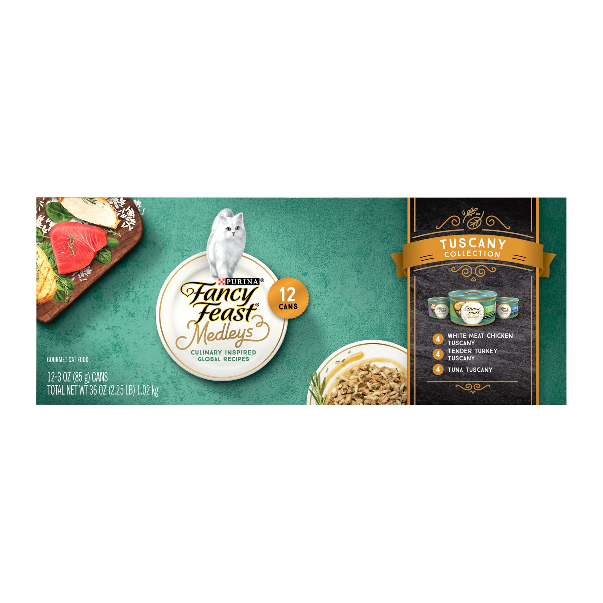 Fancy Feast Medleys Tuscany Adult Cat Food Variety Pack 12ct Size 3 Oz