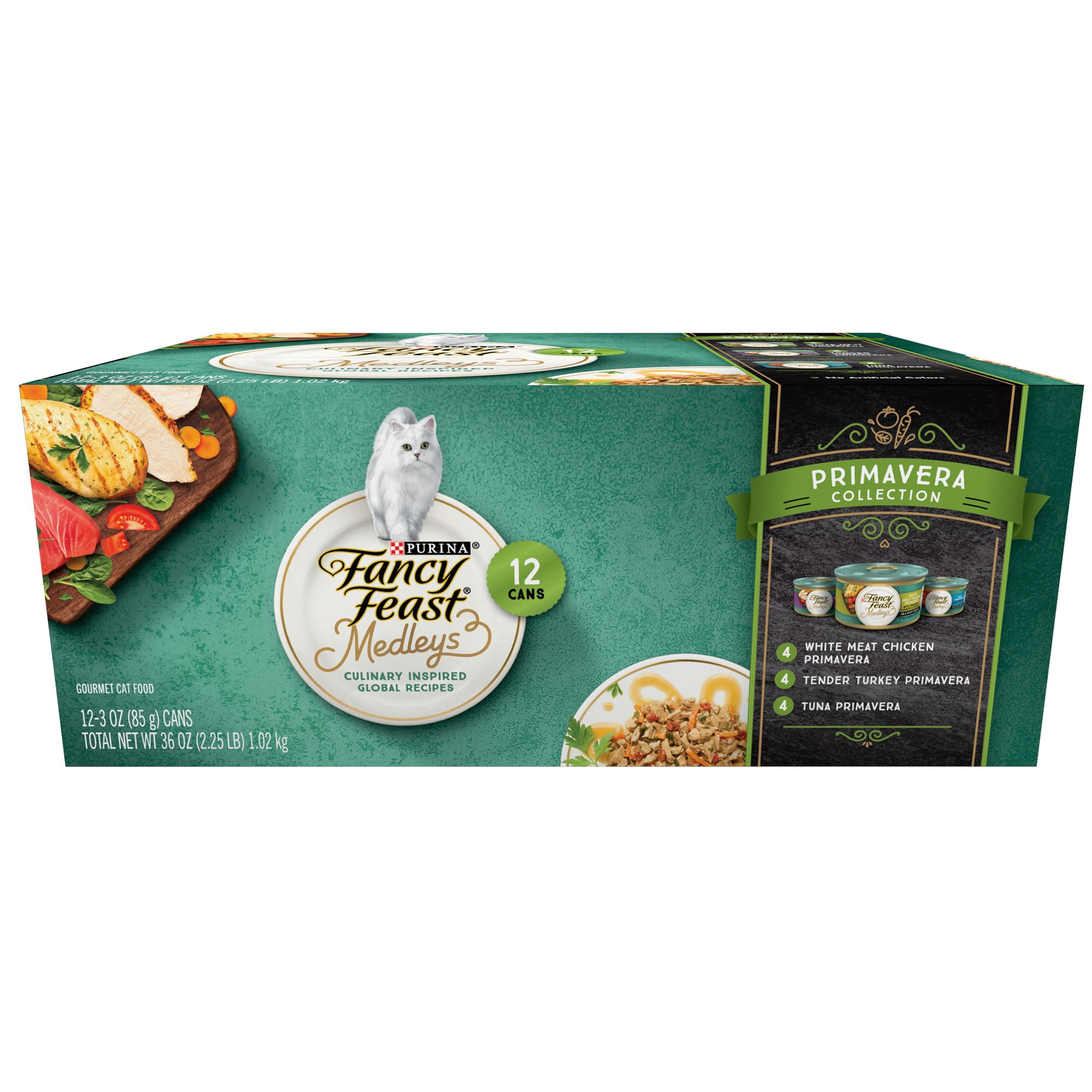Fancy Feast Medleys Primavera Adult Cat Food Variety Pack 12 Ct Size 3 Oz