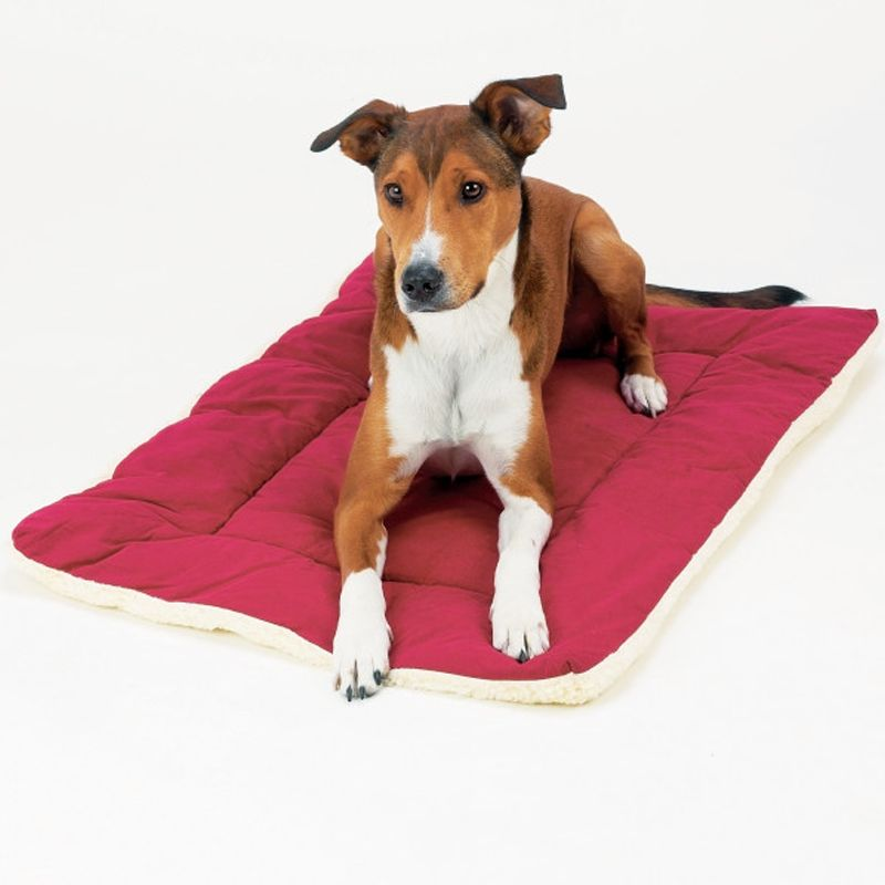 Pet Dreams Classic Sleepeez Dog Bed Size 24l X 18w Red