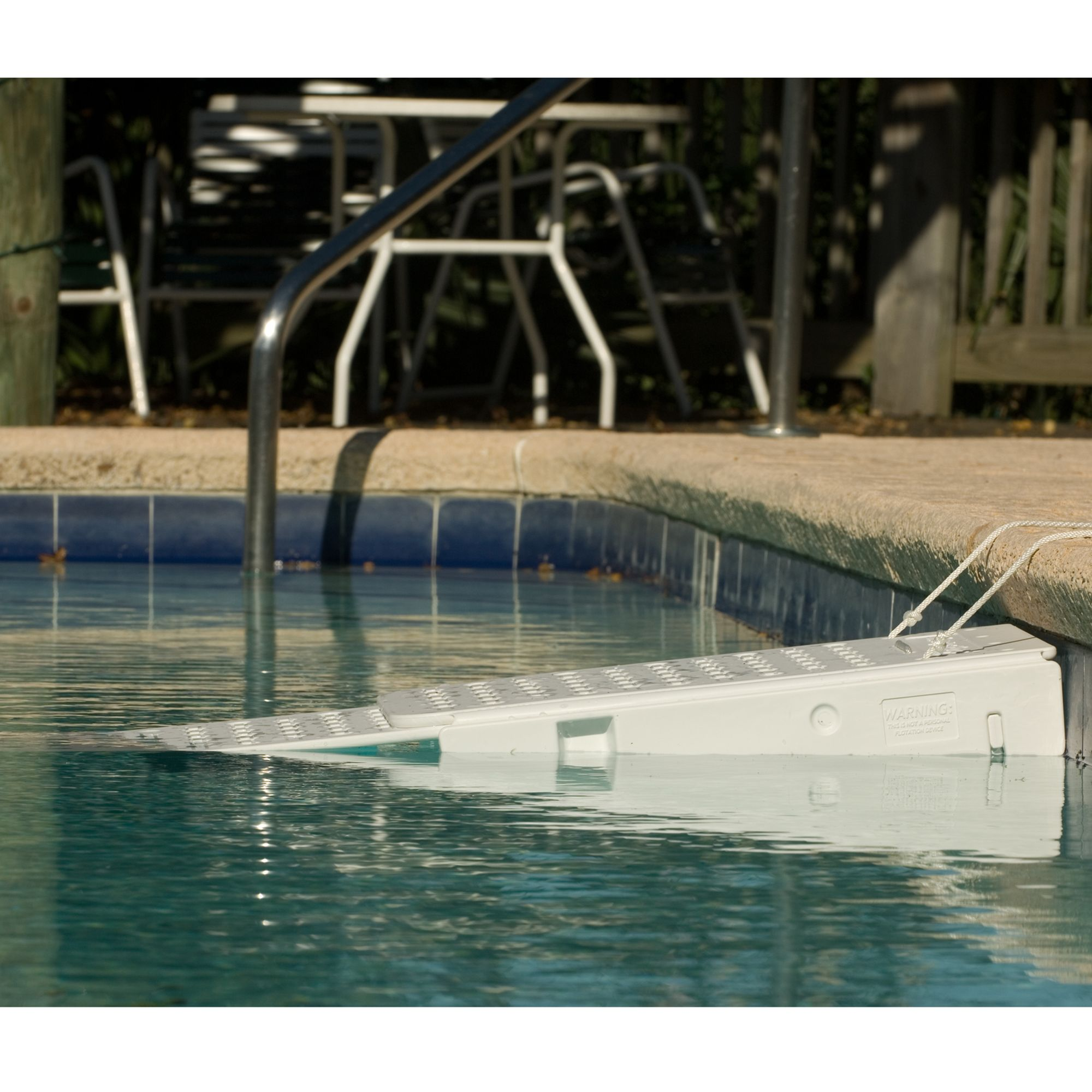 "Skamper-Ramp Water Escape Pet Ramp size: 25""L x 13""W x 6.5""H, White, Skamper Ramp"