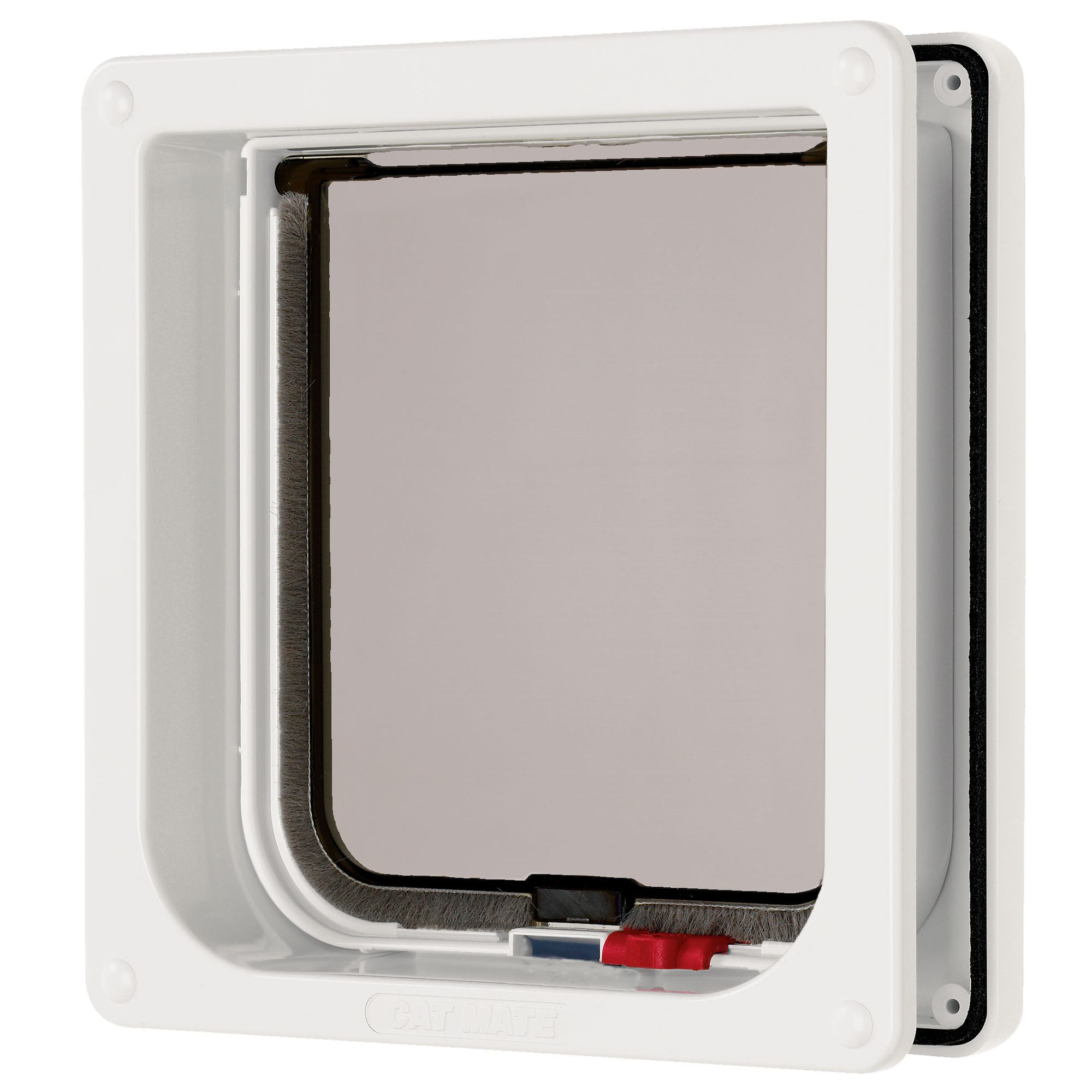 Cat Mate 2 Way Locking Cat Flap With Liner Size Medium White