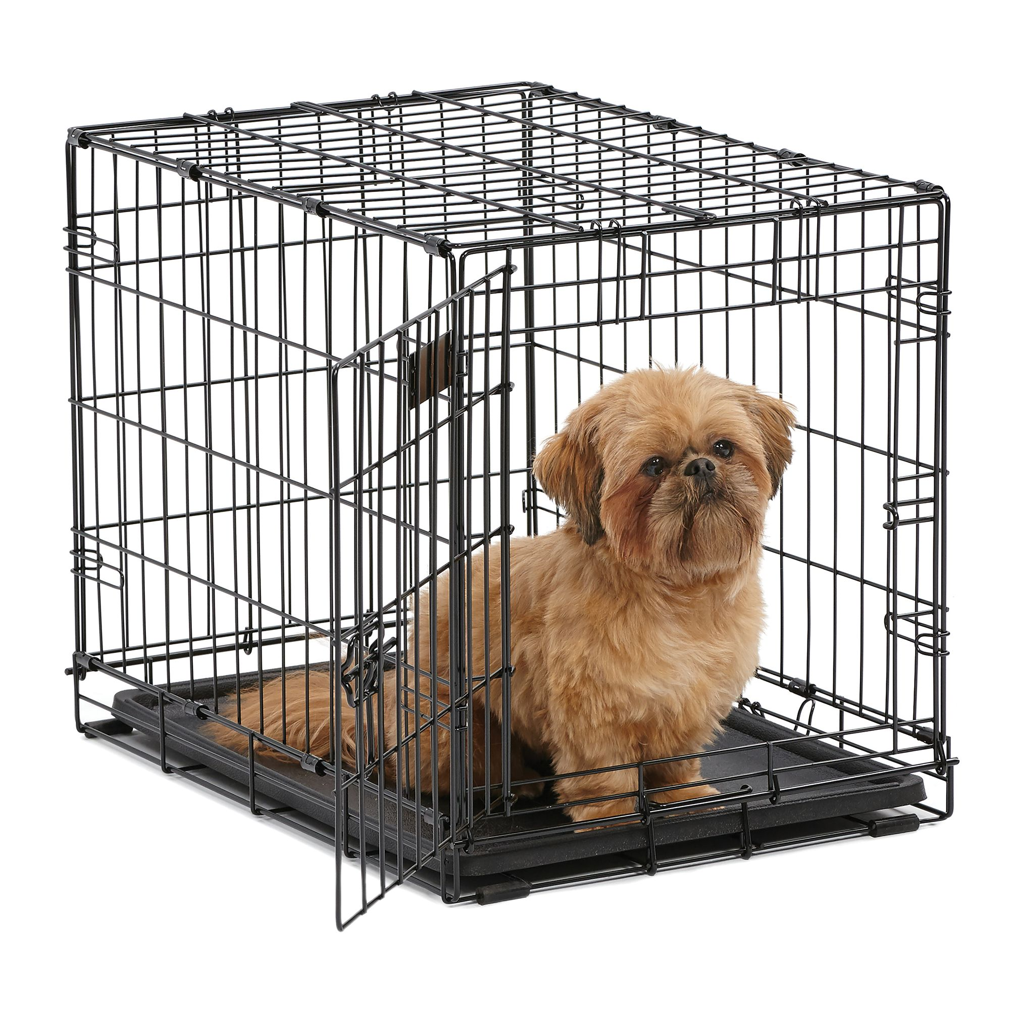 "Midwest iCrate Dog Crate size: 24""L x 18""W x 19""H, Black 5142221"