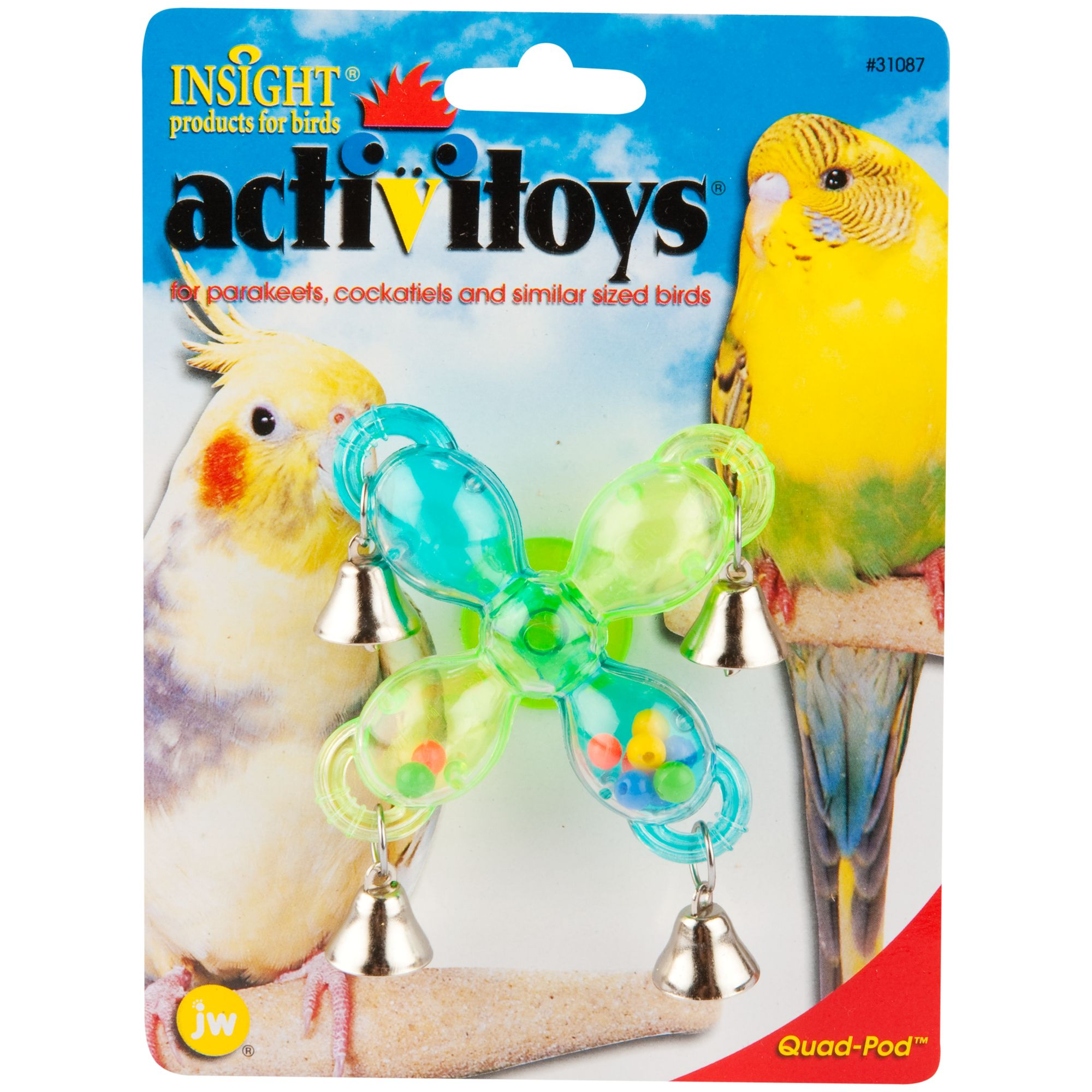 JW Pet Insight Activitoys Quad-Pod Bird Toy 5142408