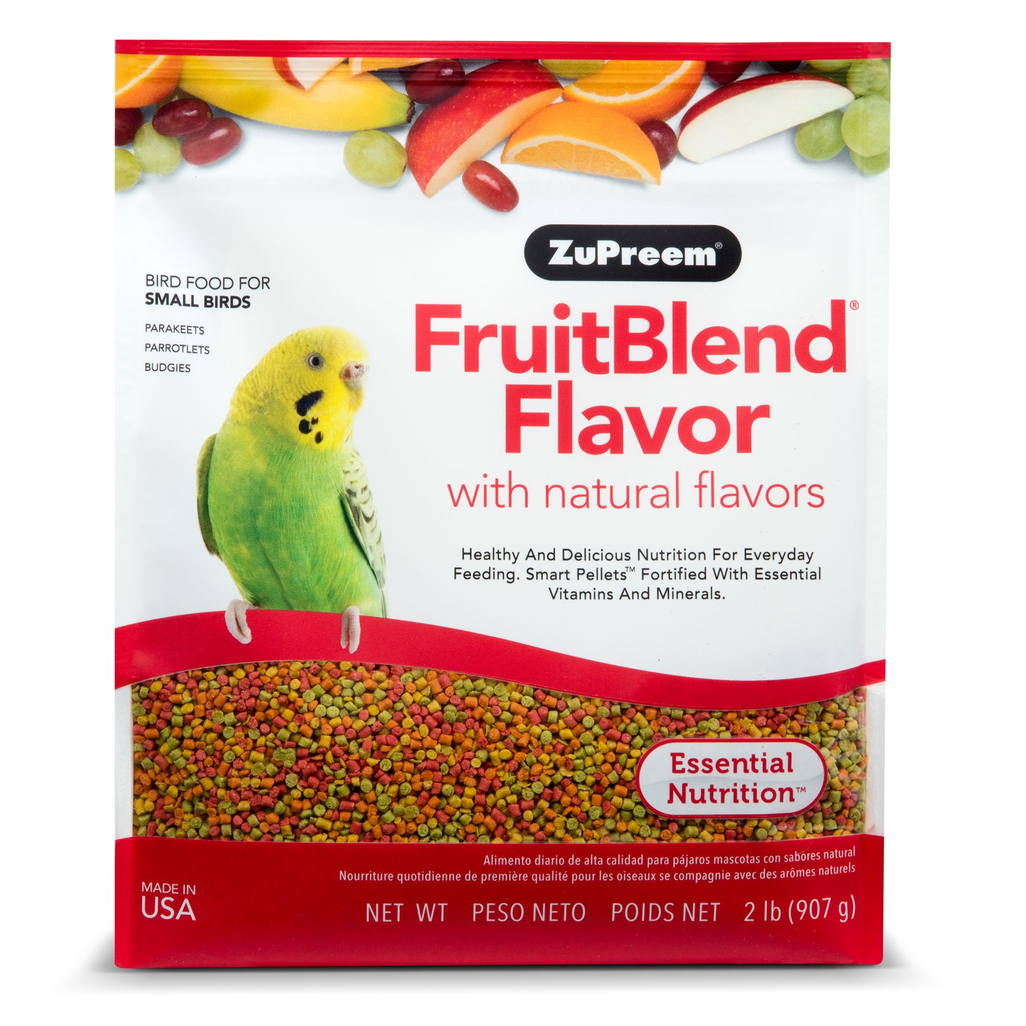 ZuPreem FruitBlend Small Bird Food size: 2 Lb