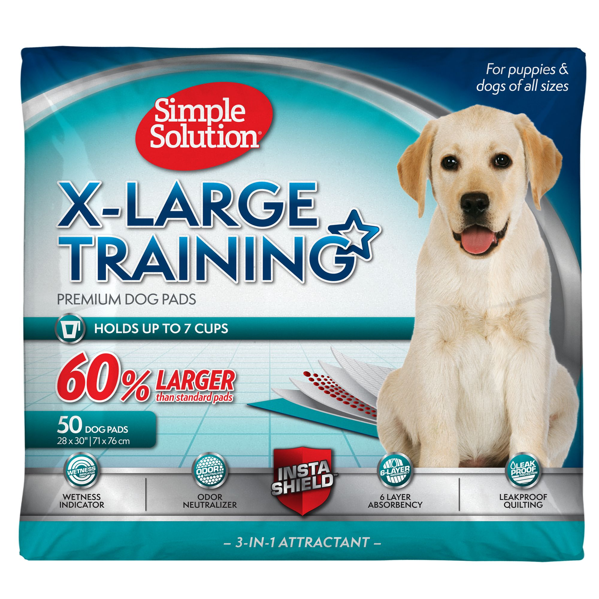 Simple Solution Oversized Training Dog Pads size: 50 Count 5147139