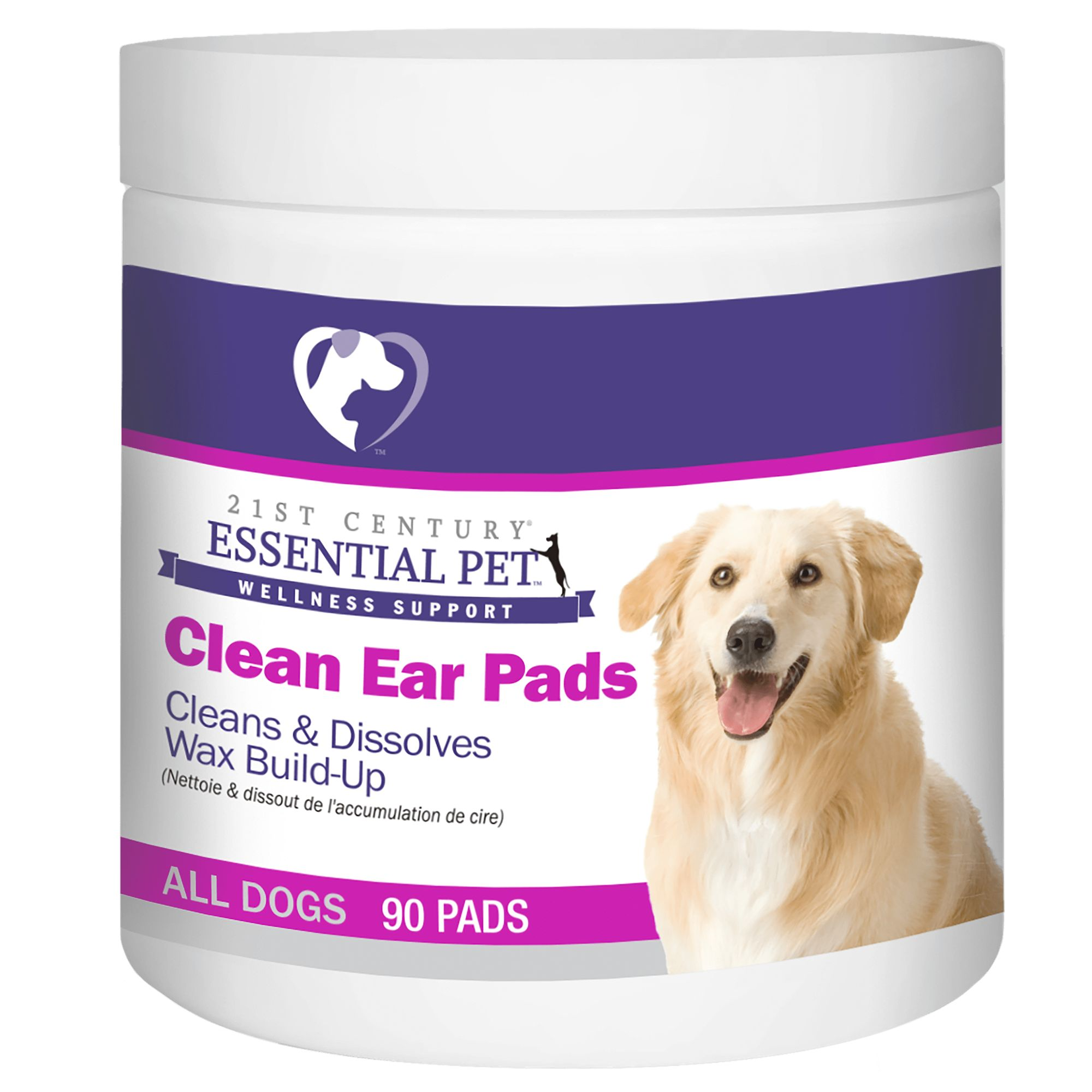 21st Century Clean Ear Dog Pads Size 90 Count