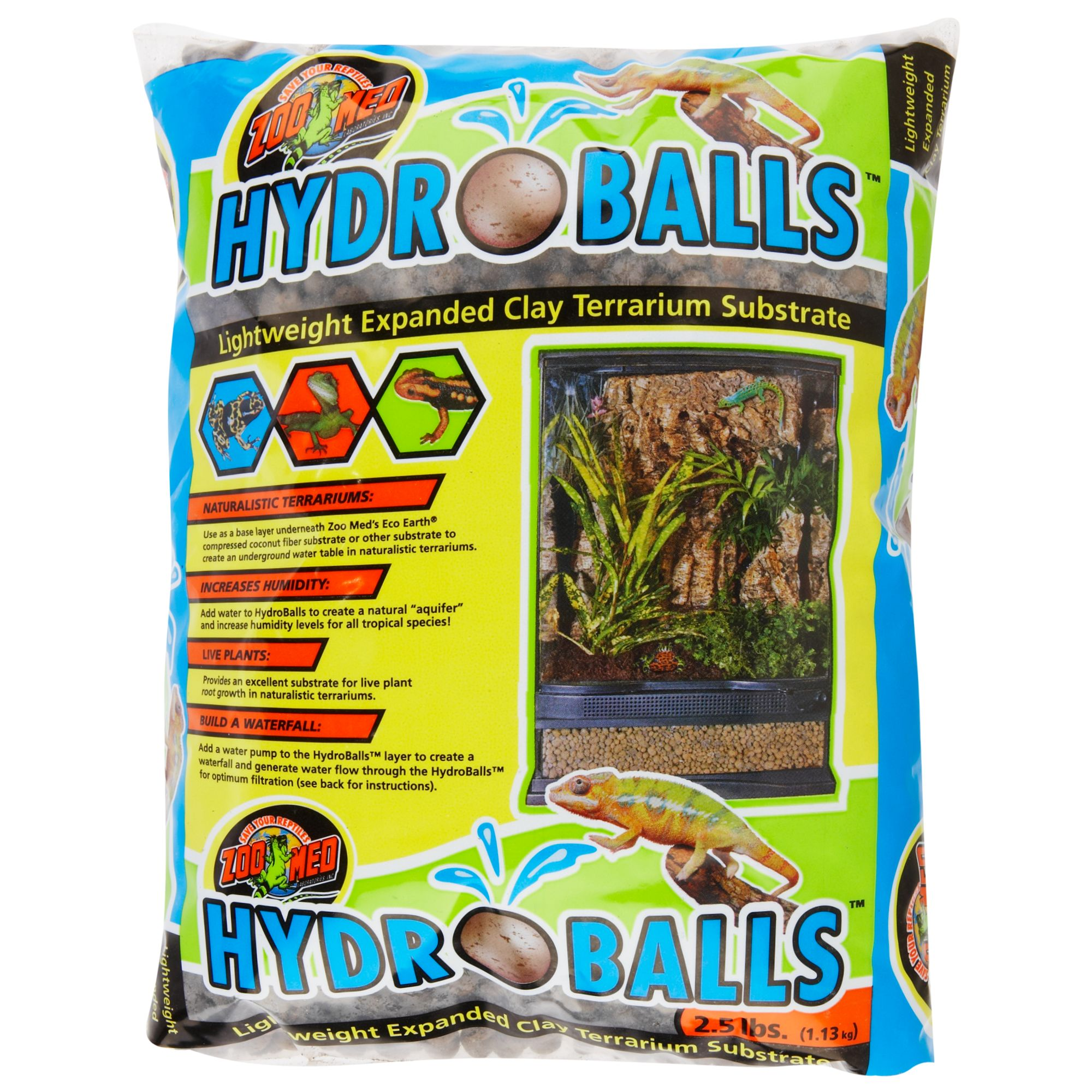 Zoo Med Hydroballs Lightweight Expanded Reptile Terrarium Substrate