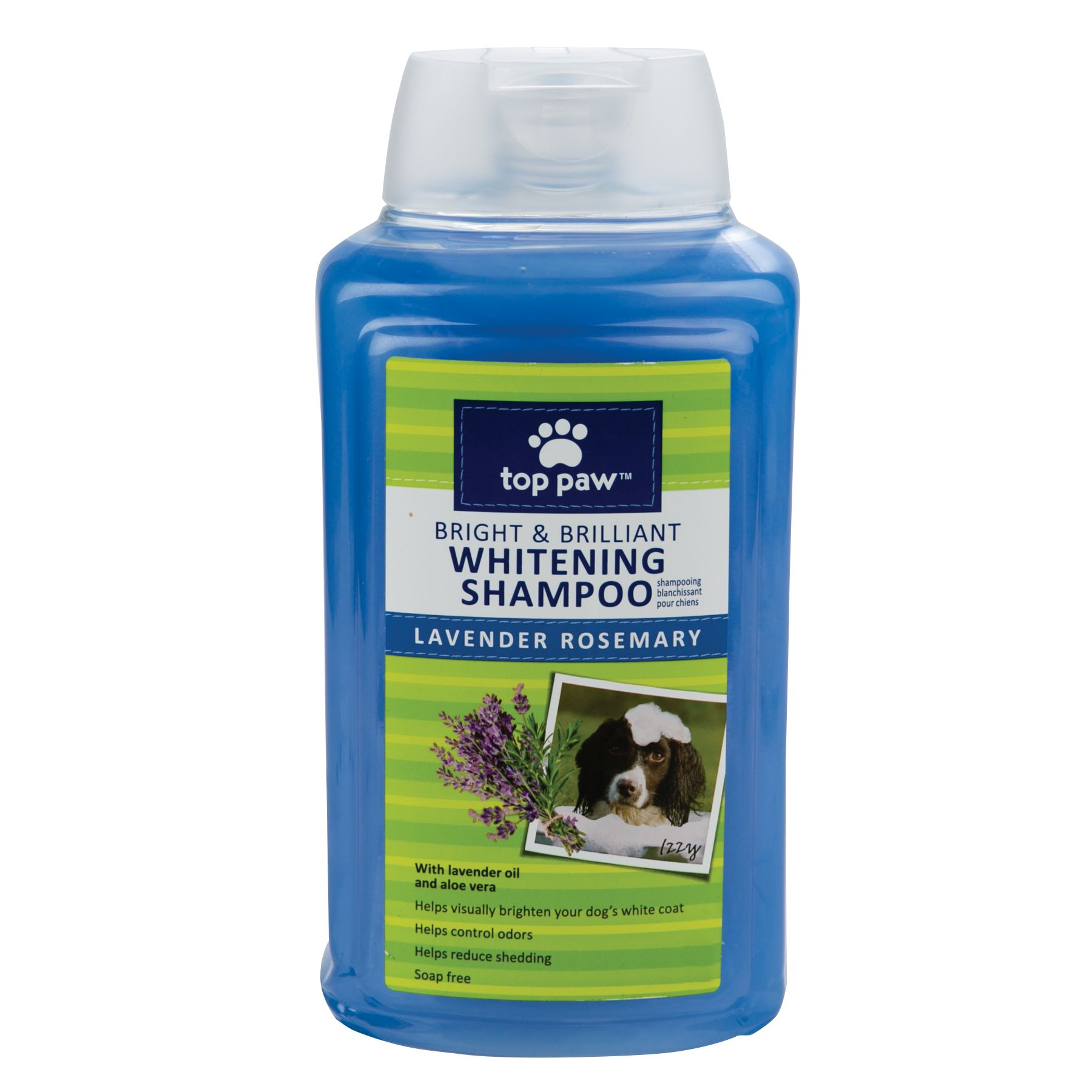 Top Paw, Bright and Brilliant Whitening Dog Shampoo - Lavender Rosemary Scent size: 17 Fl Oz 5147838