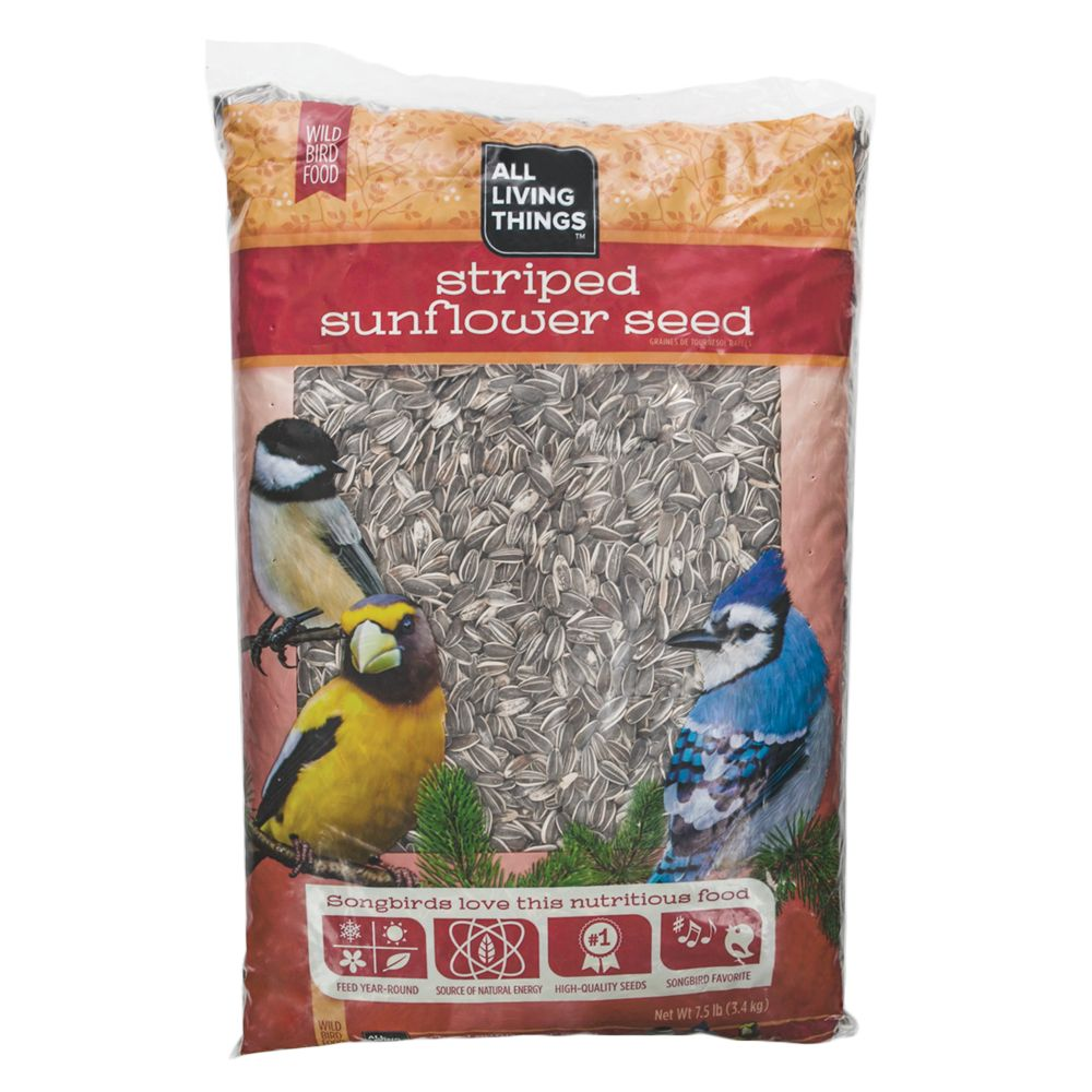 All Living Things Striped Sunflower Seed Wild Bird Food size: 7.5 Lb, Seeds, All stages, Striped Sunflower Seeds 5148672