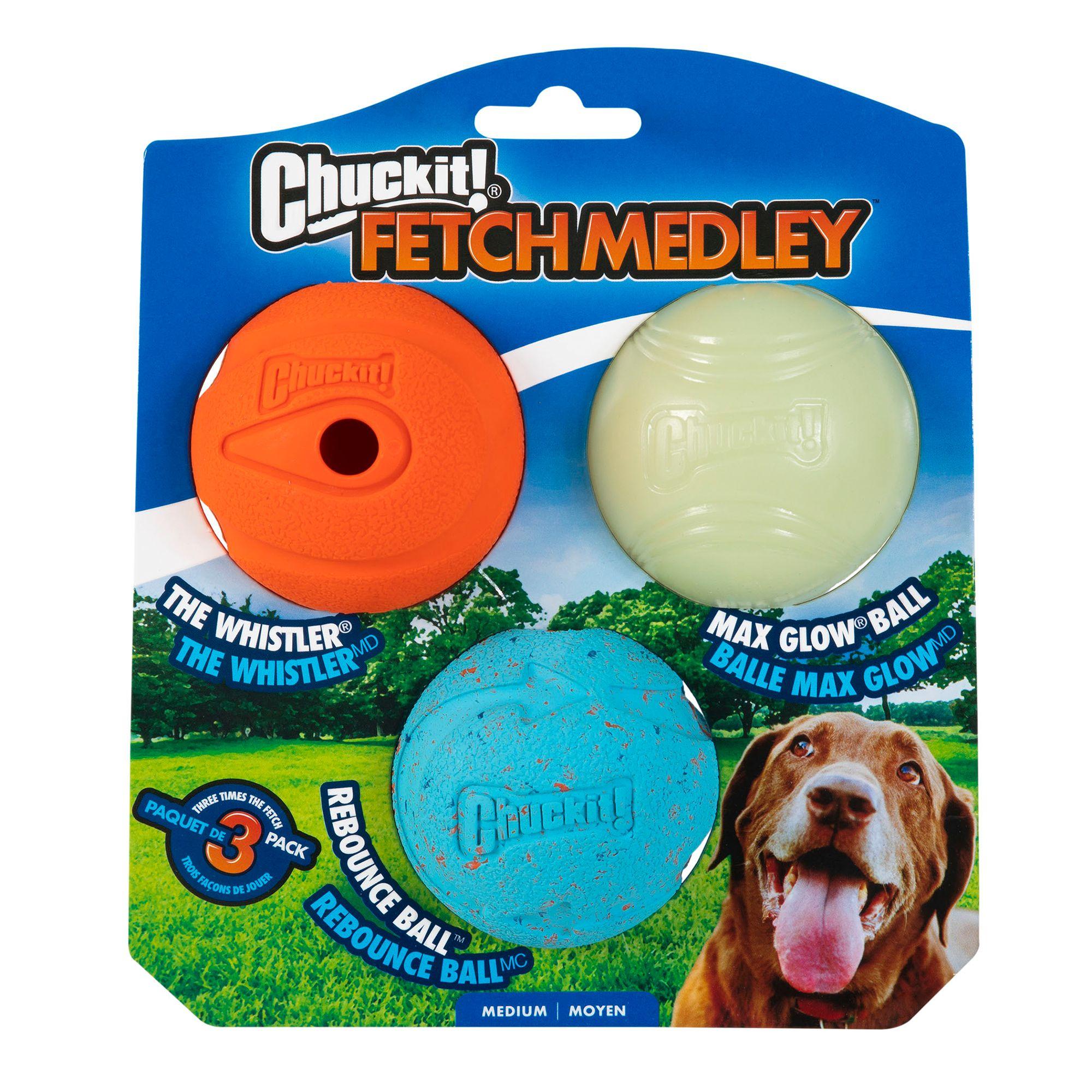 Chuckit! Medley Ball Set Dog Toy size: Medium